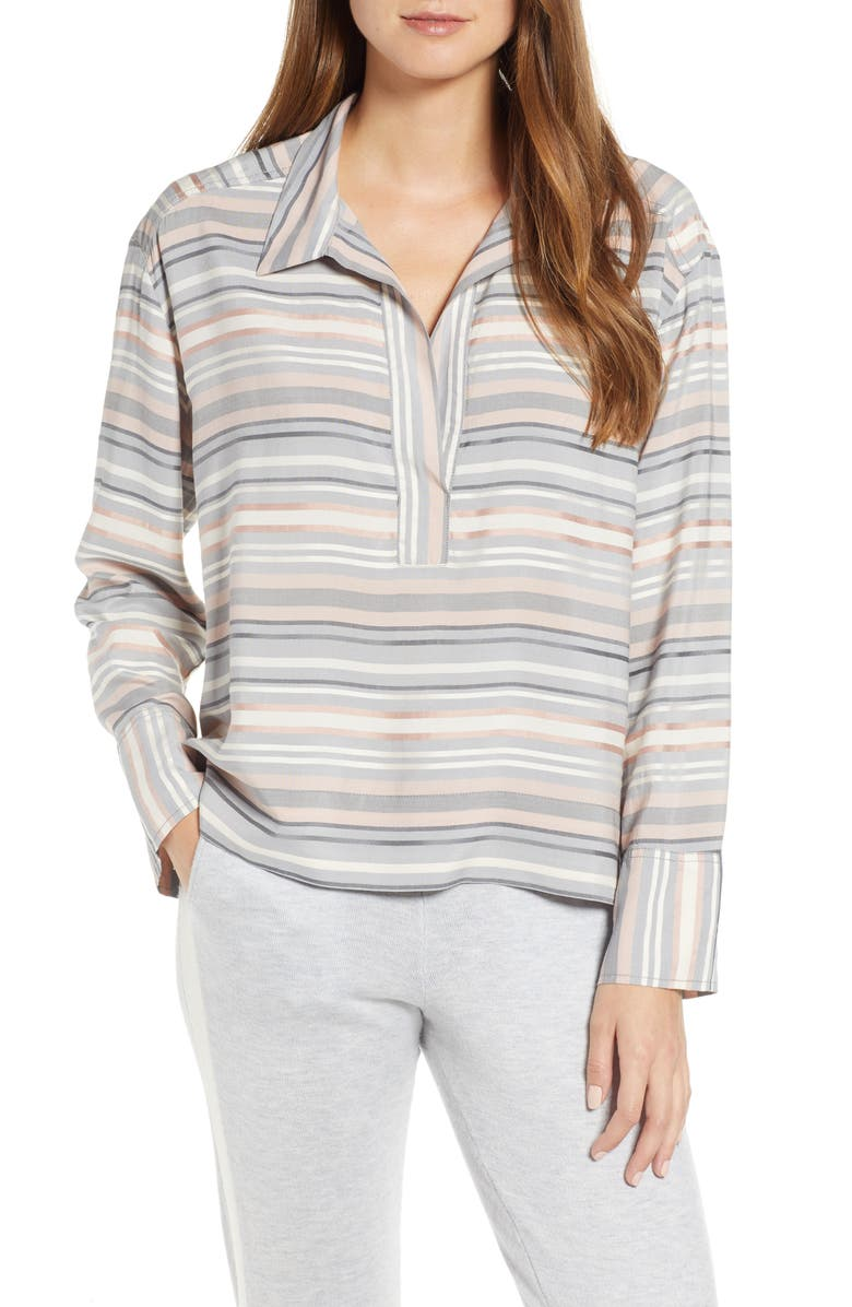 Lou & Grey Striped Pop-On Shirt