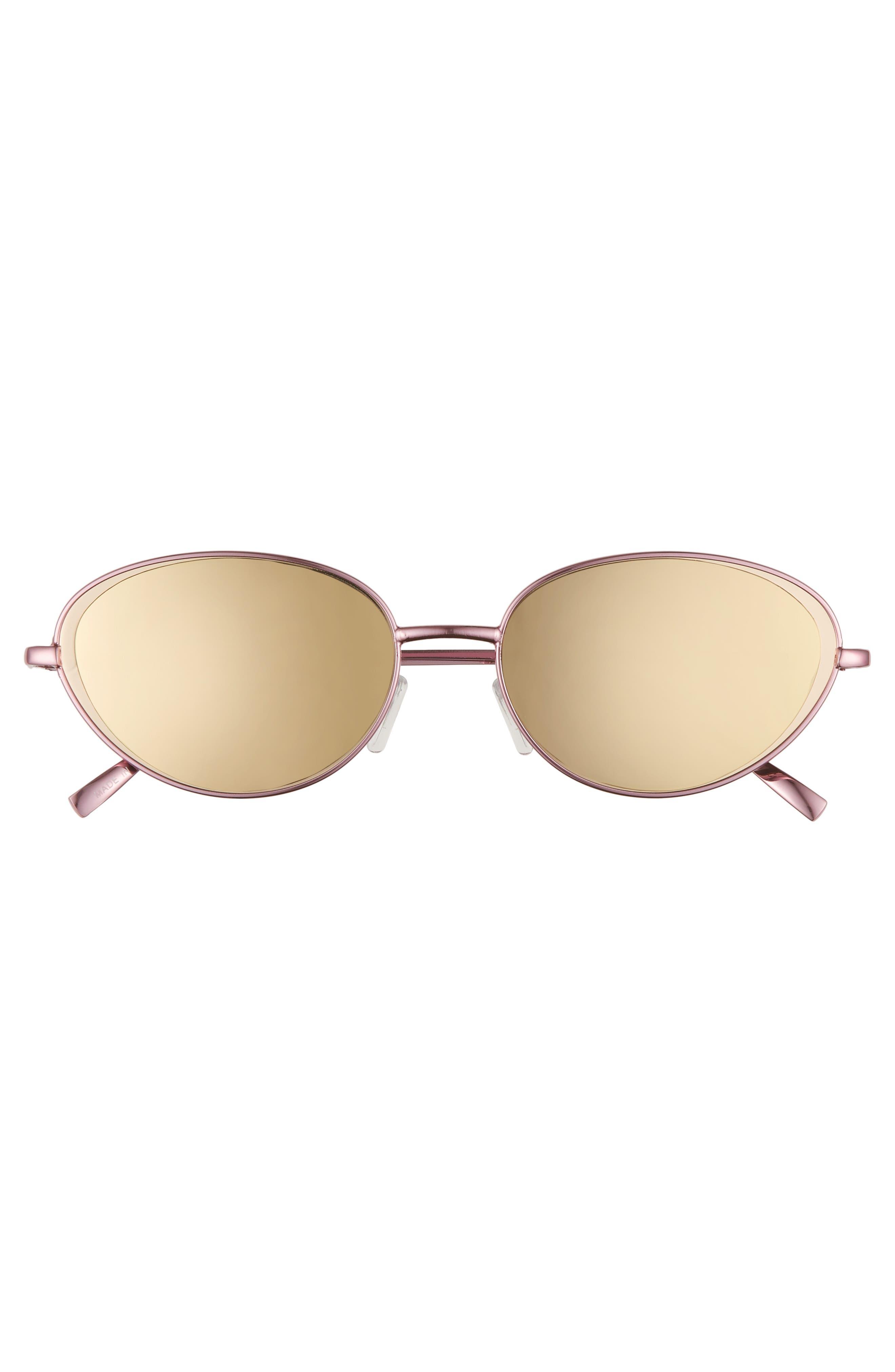 57mm Oval Sunglasses,                             Alternate thumbnail 3, color,                             650