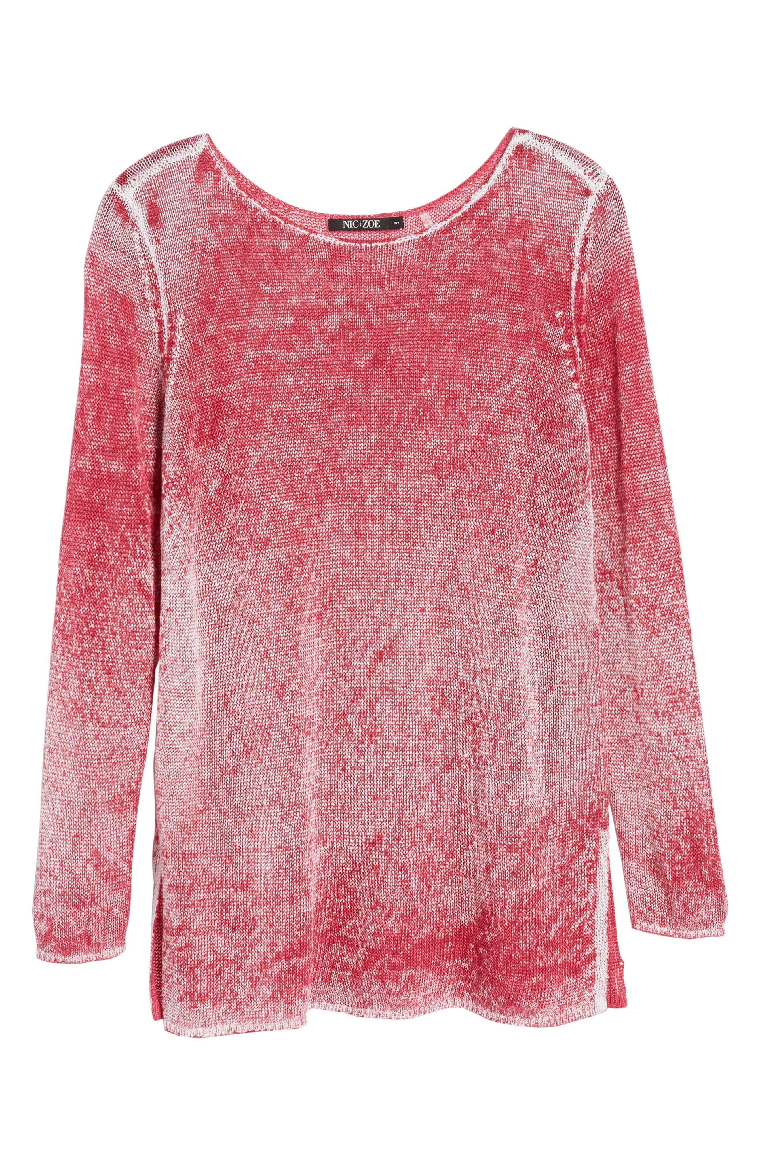 NIC + ZOE Poolside Linen Blend Sweater,                             Alternate thumbnail 23, color,