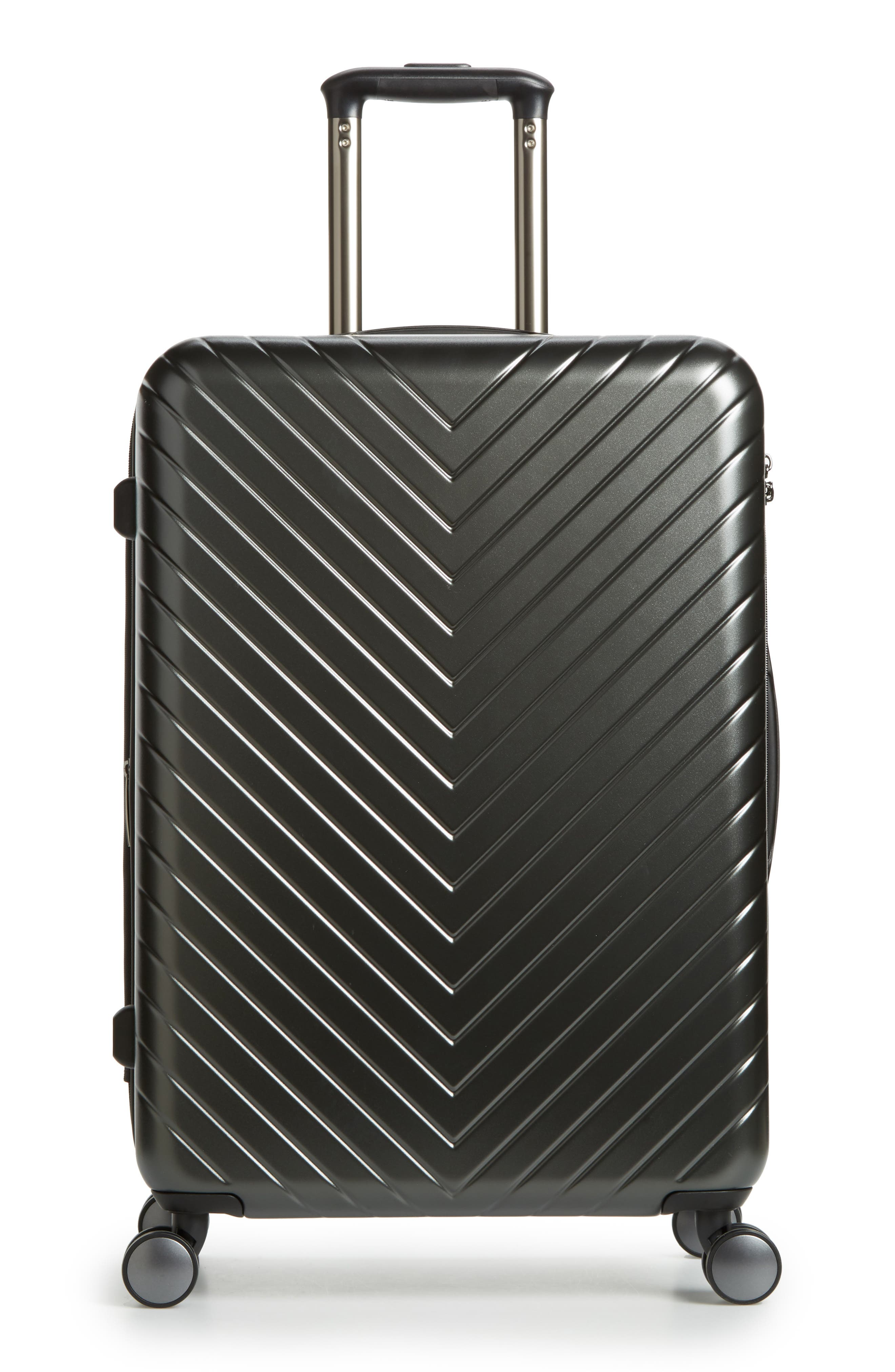 NORDSTROM,                             Chevron 25-Inch Spinner Suitcase,                             Main thumbnail 1, color,                             040