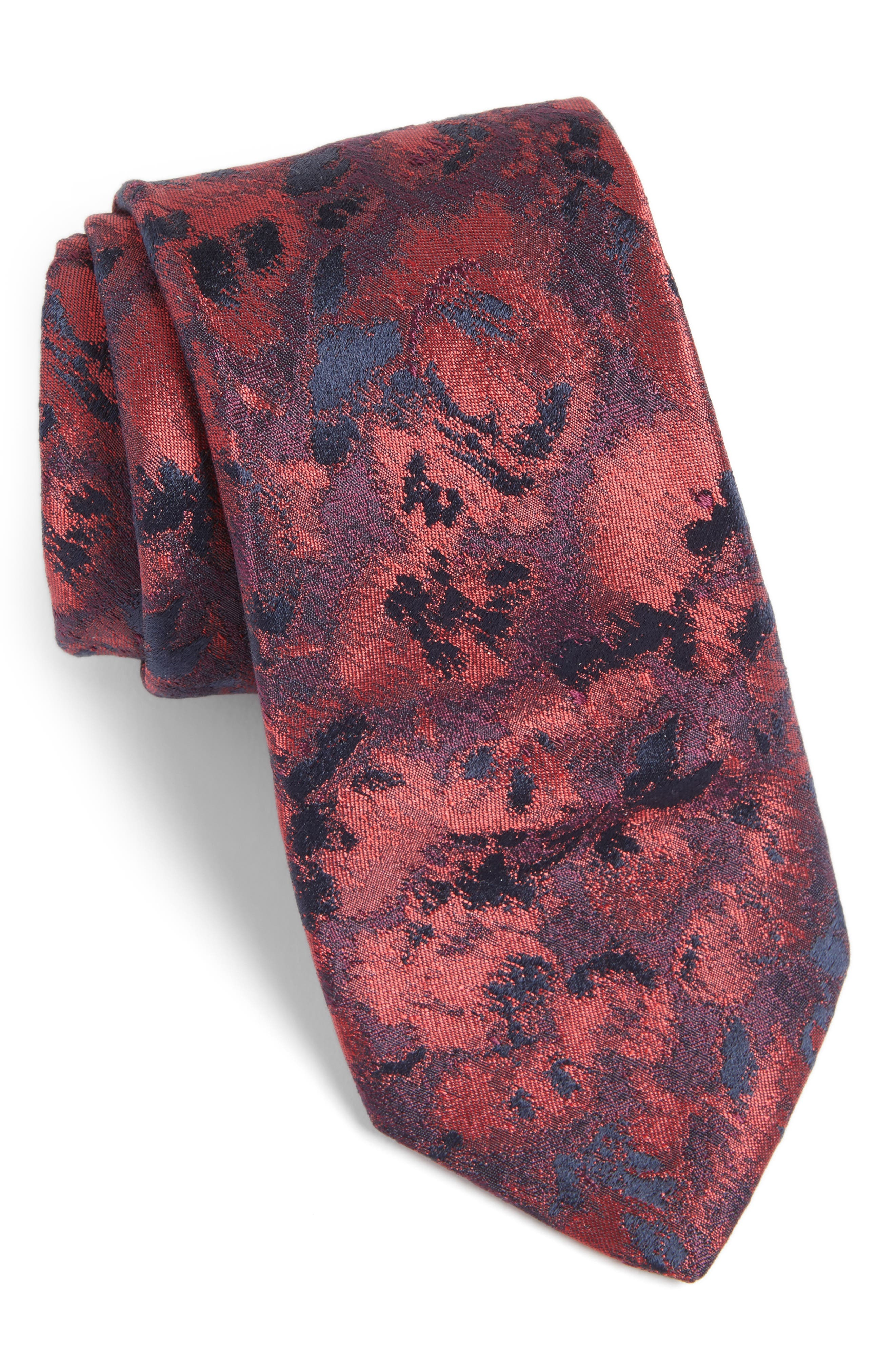 Moonlight Abstract Floral Silk Tie,                             Main thumbnail 2, color,