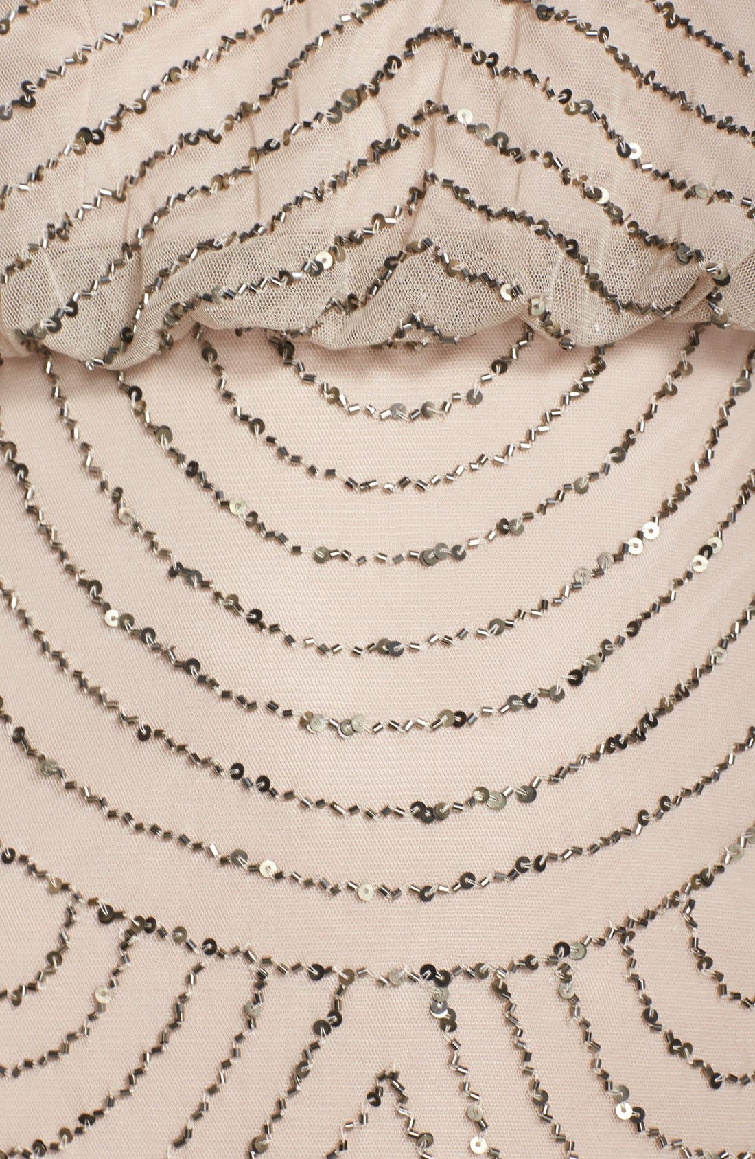 Sequin Mesh Blouson Dress,                             Alternate thumbnail 8, color,                             257