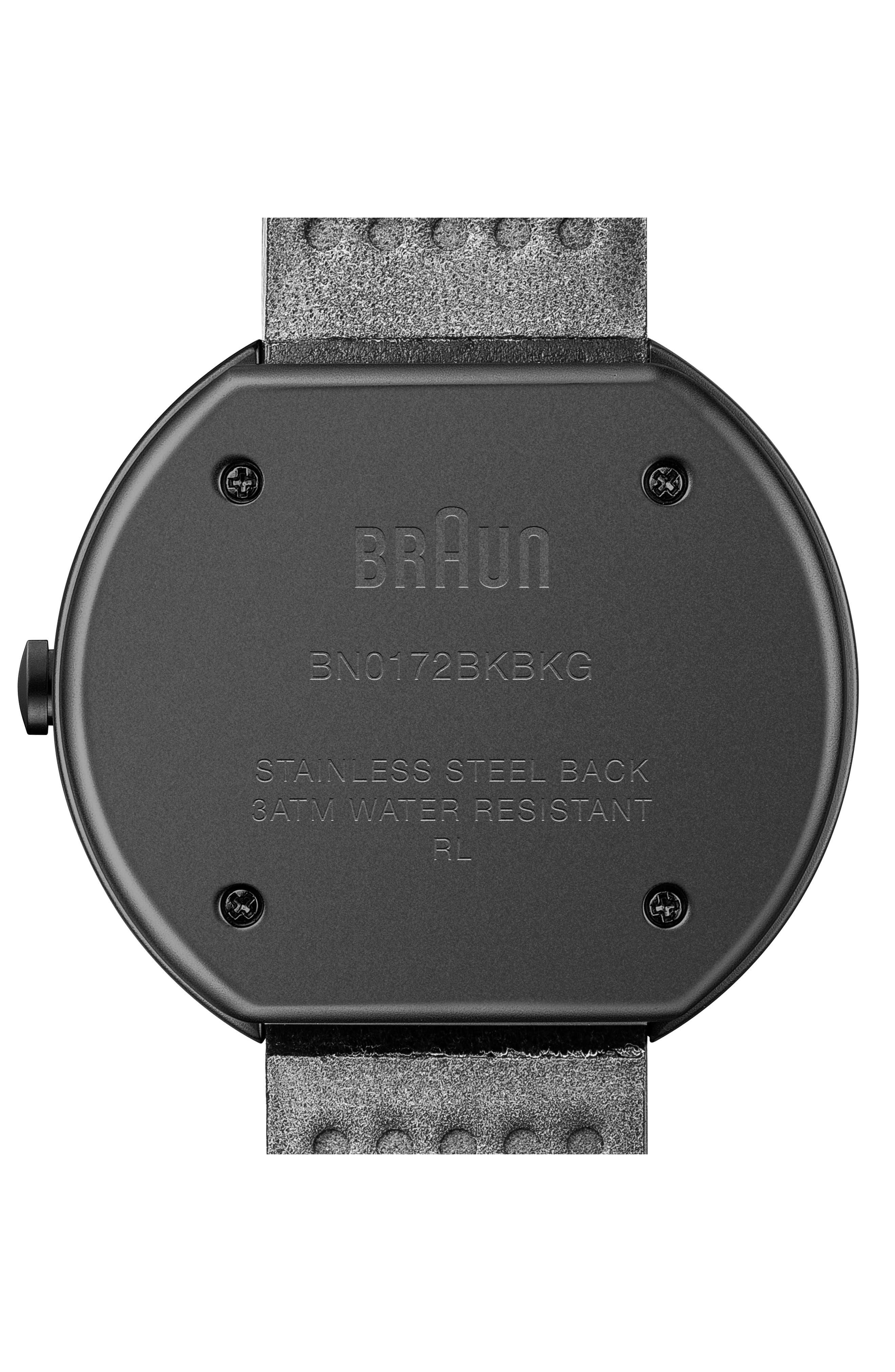 BRAUN Classic Leather Strap Watch, 42Mm in Black