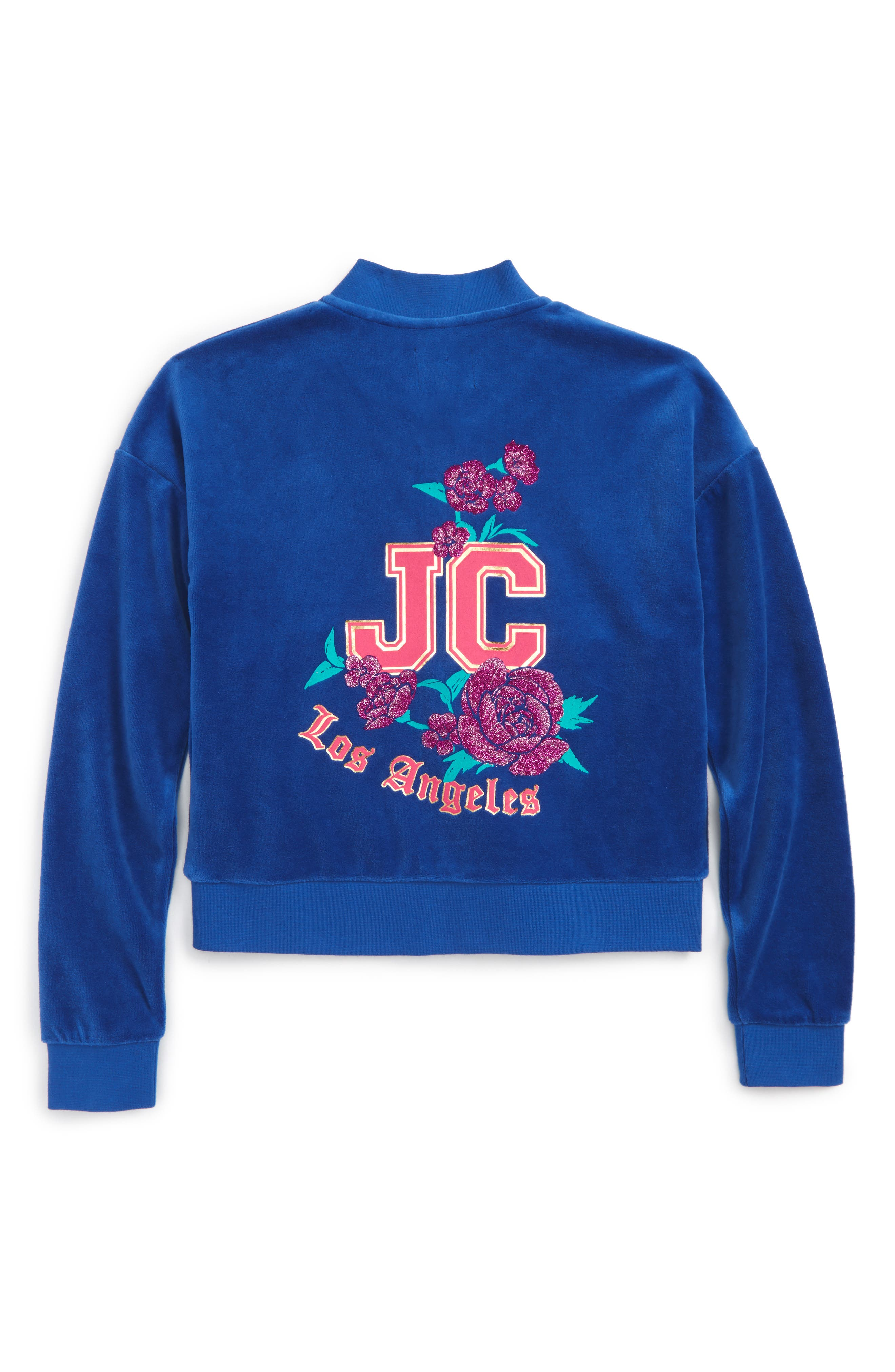 JUICY COUTURE,                             Floral Enchantment Track Jacket,                             Alternate thumbnail 2, color,                             428
