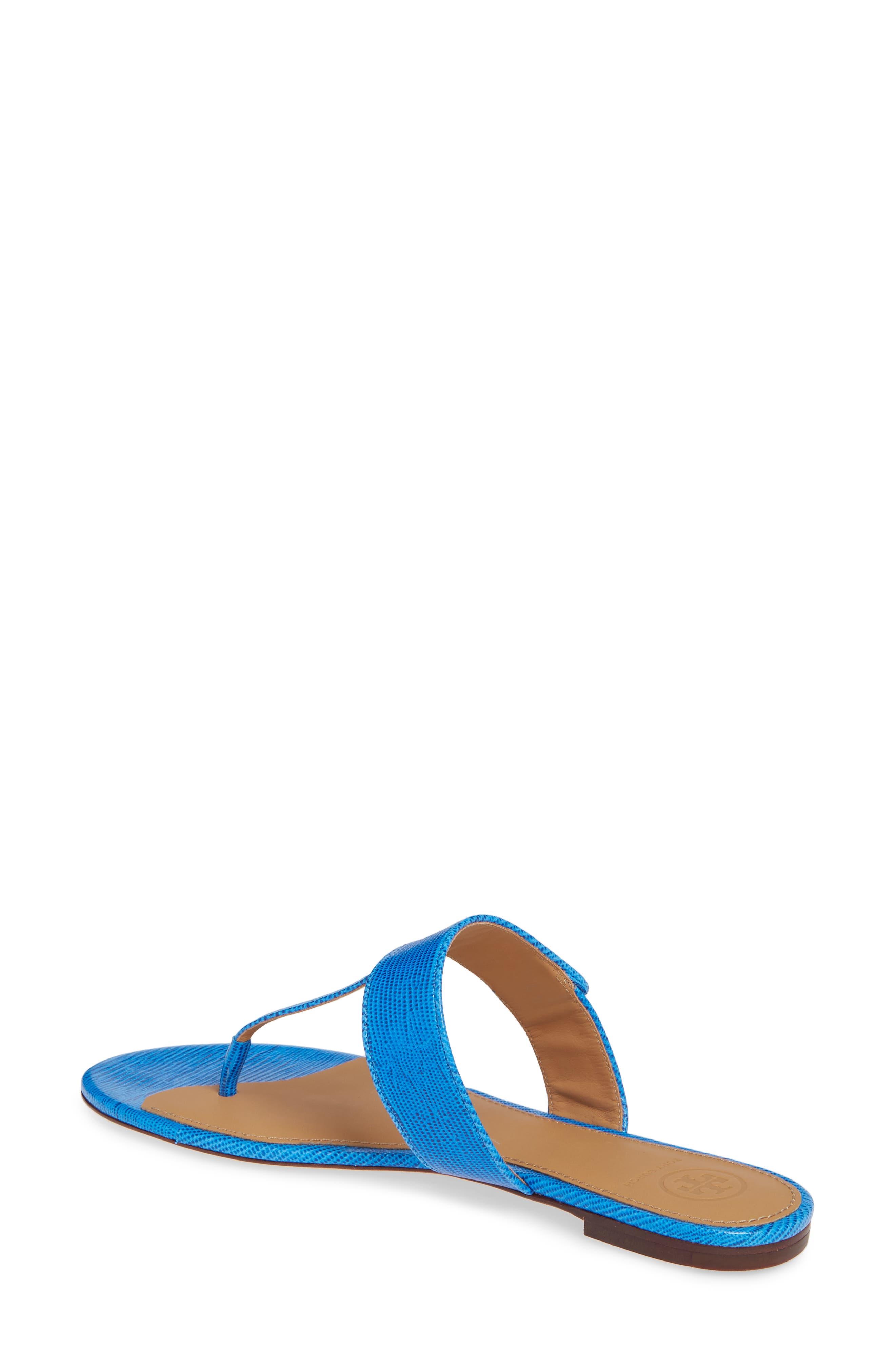 Tory Burch Kira Thong Sandal- Blue