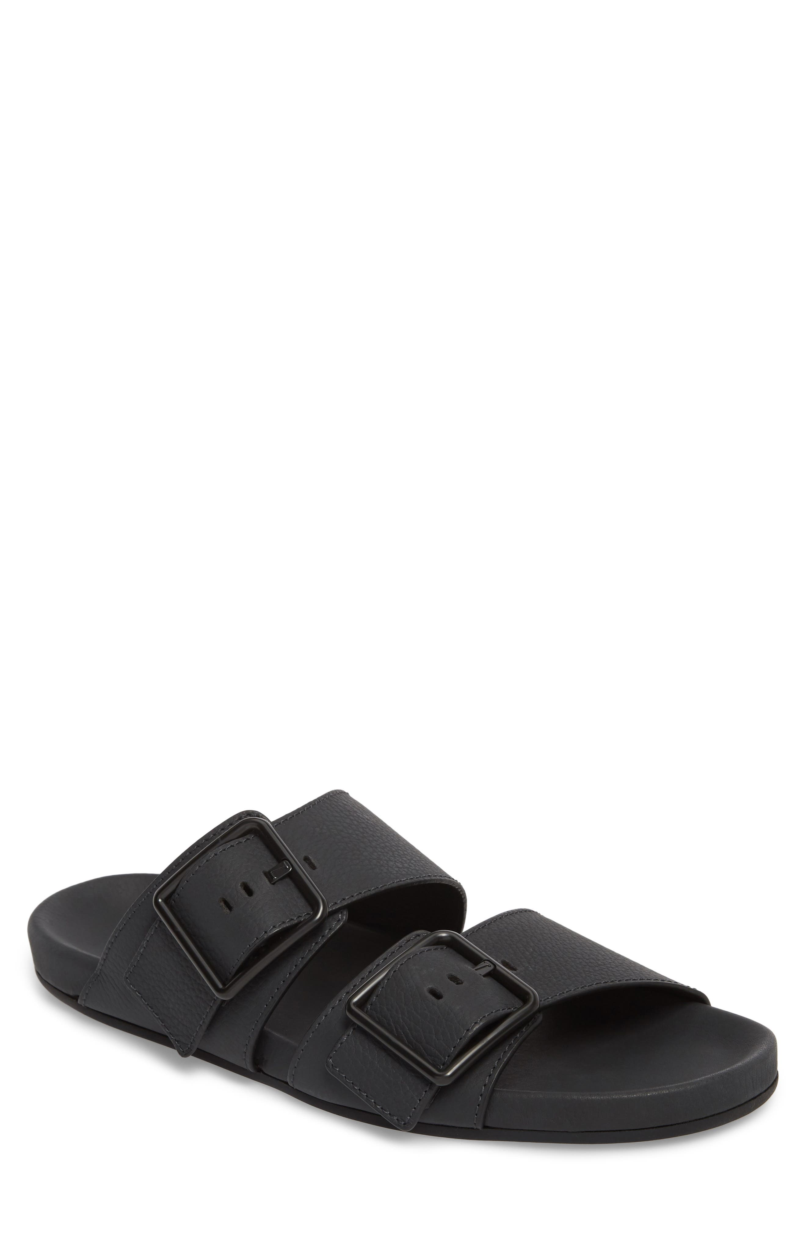 Double Strap Slide Sandal,                             Main thumbnail 1, color,                             001