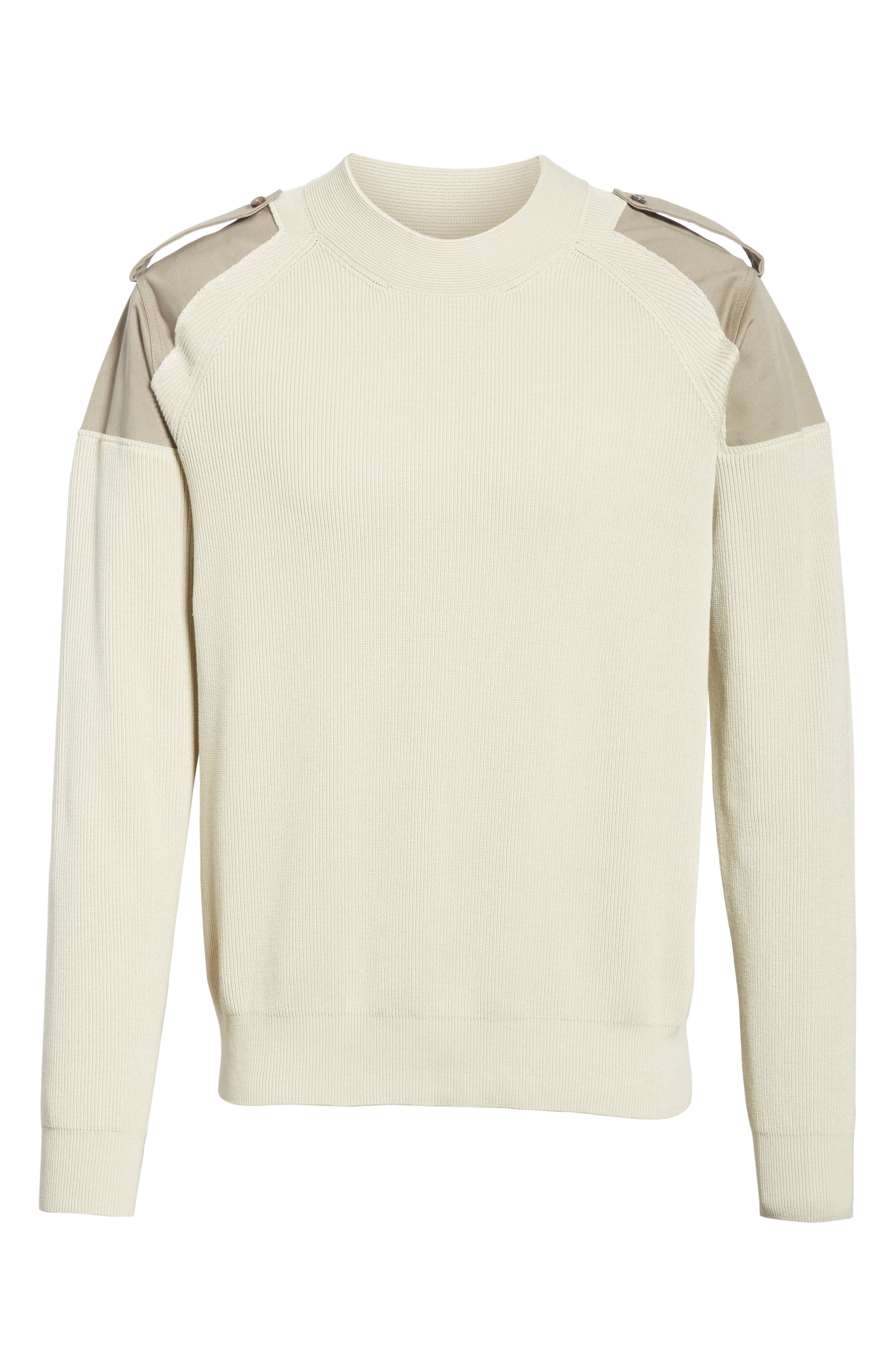 Two-Tone Military Sweater,                             Alternate thumbnail 6, color,                             242