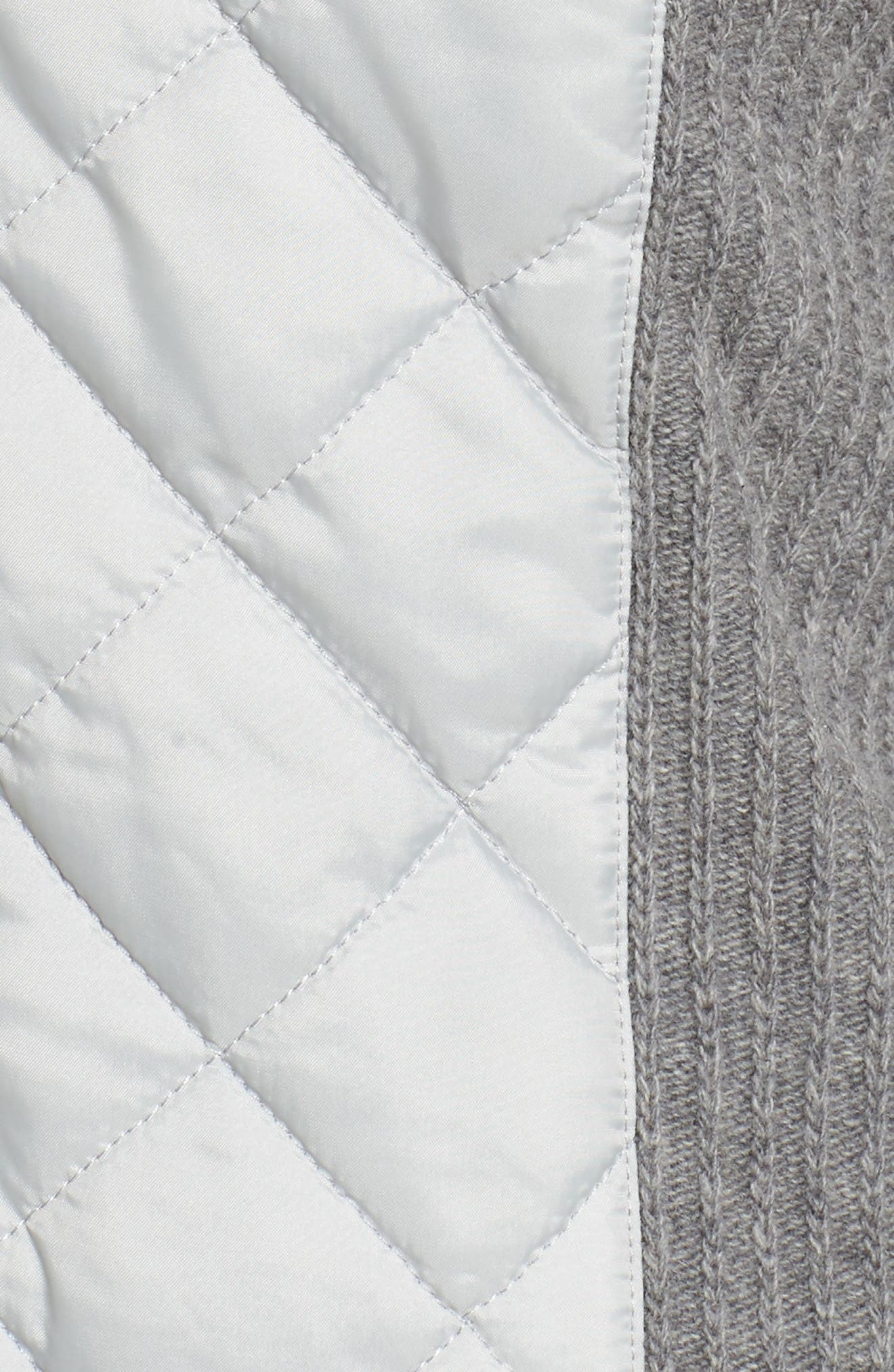'Sporting' Zip Front Quilted Jacket,                             Alternate thumbnail 6, color,                             050