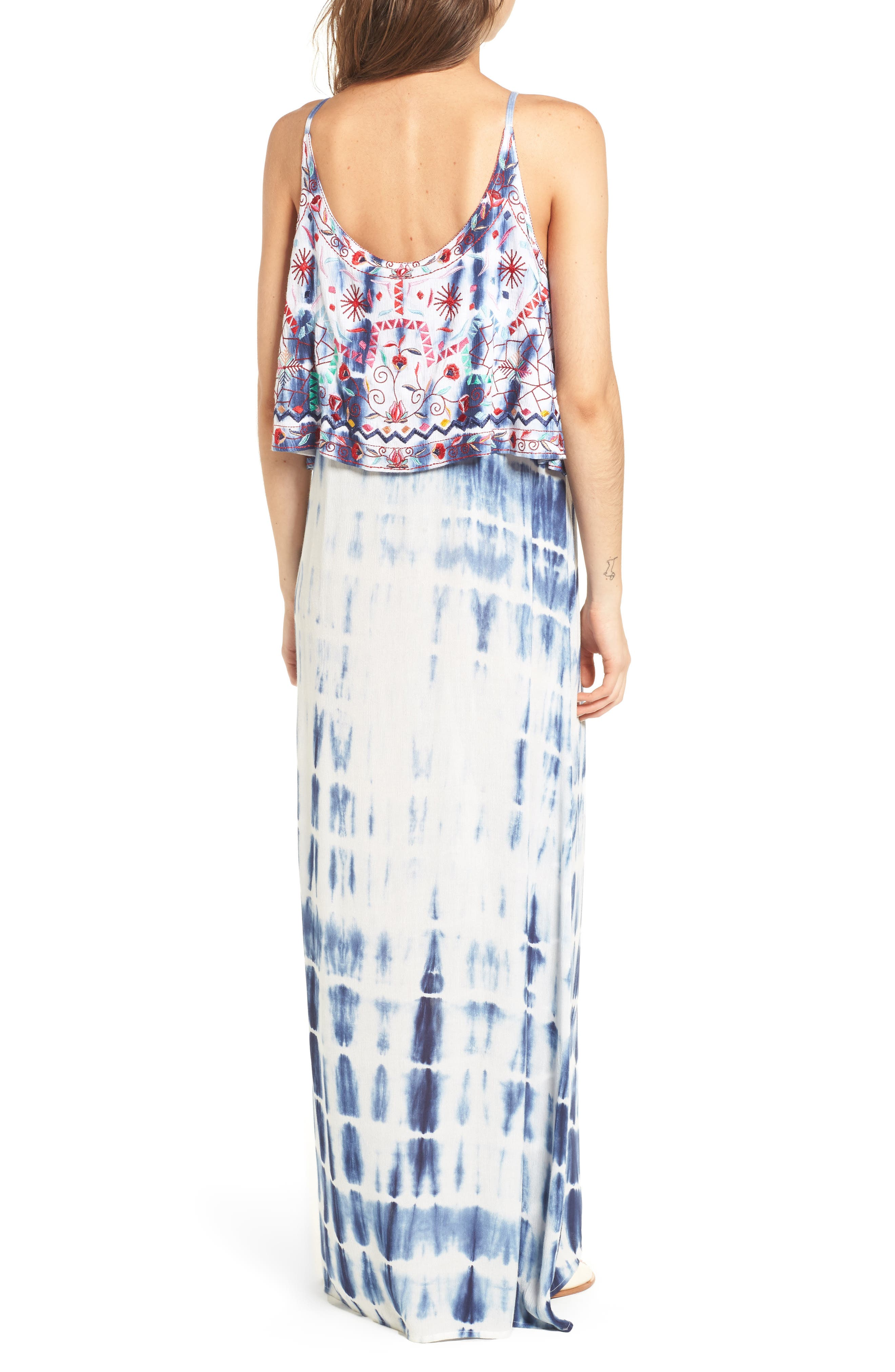 Catching The Waves Embroidered Maxi Dress,                             Alternate thumbnail 2, color,