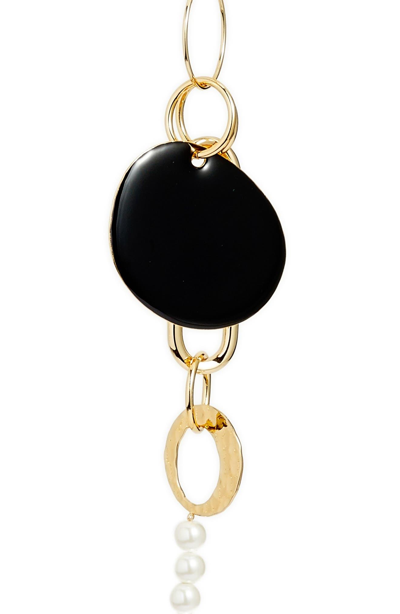 Long Ring & Imitation Pearl Necklace,                             Alternate thumbnail 2, color,                             040