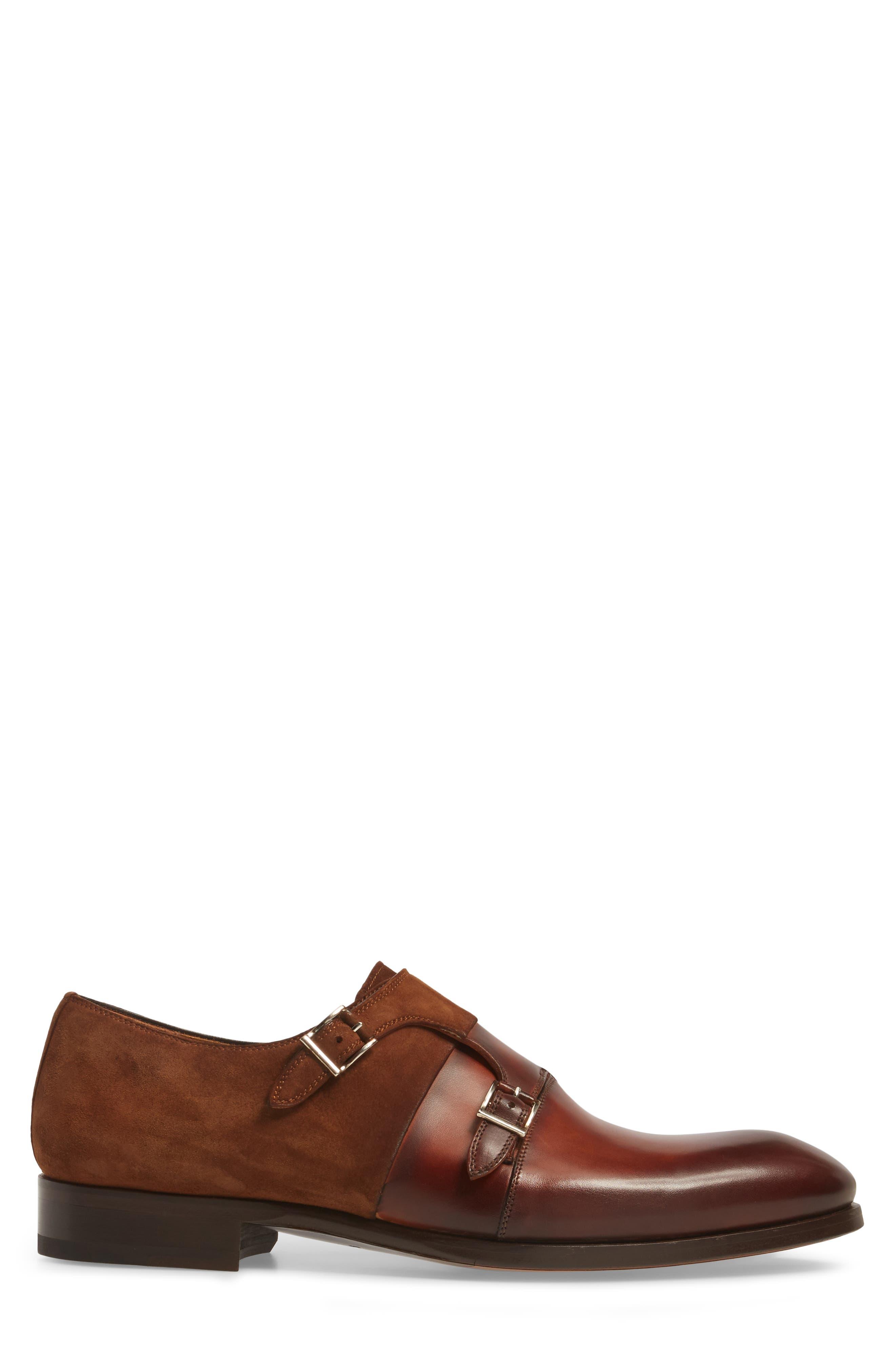 Orville Double Monk Strap Shoe,                             Alternate thumbnail 3, color,                             219
