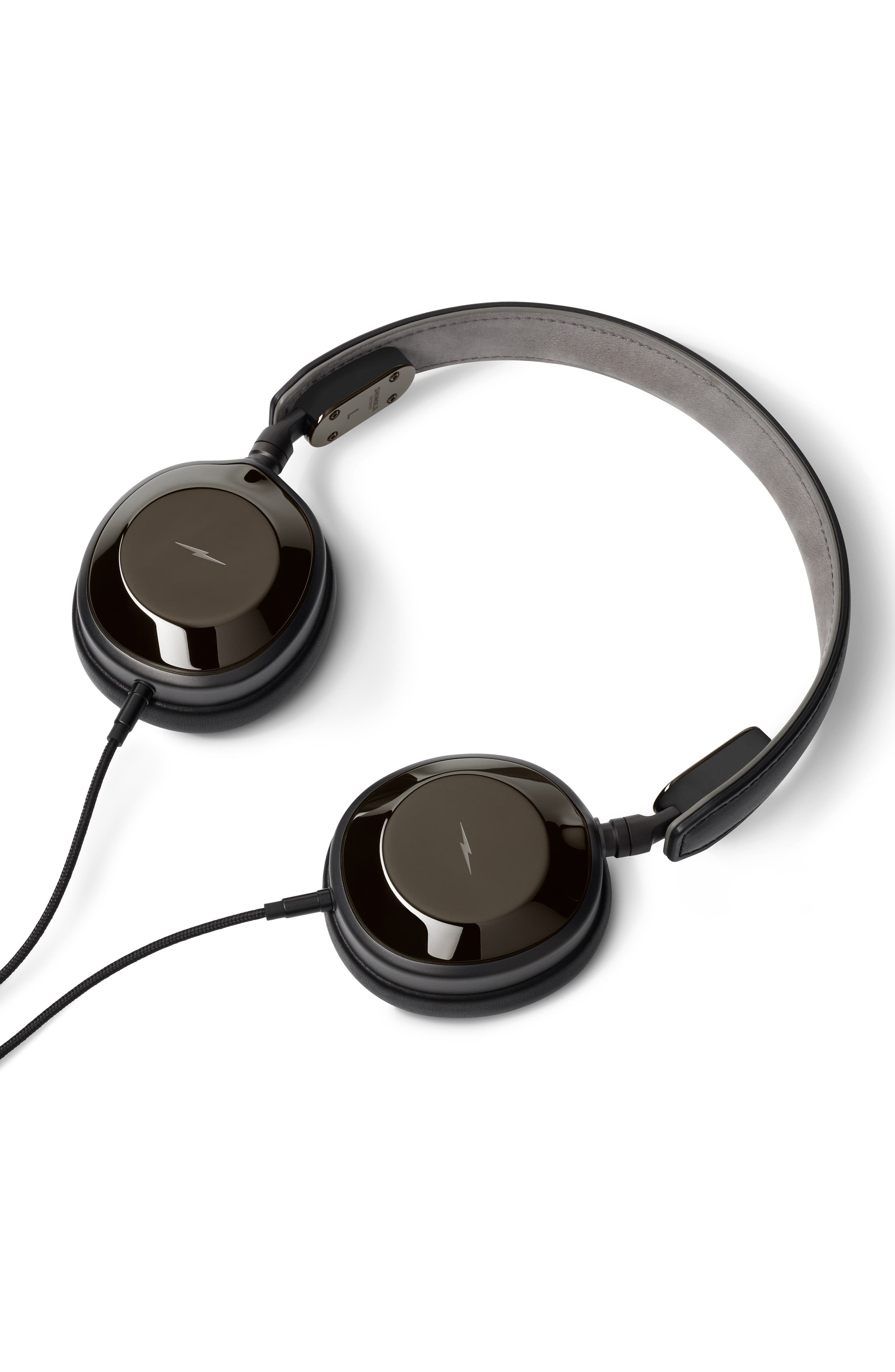 Canfield On-Ear Headphones,                             Alternate thumbnail 2, color,                             GLOSS BLACK