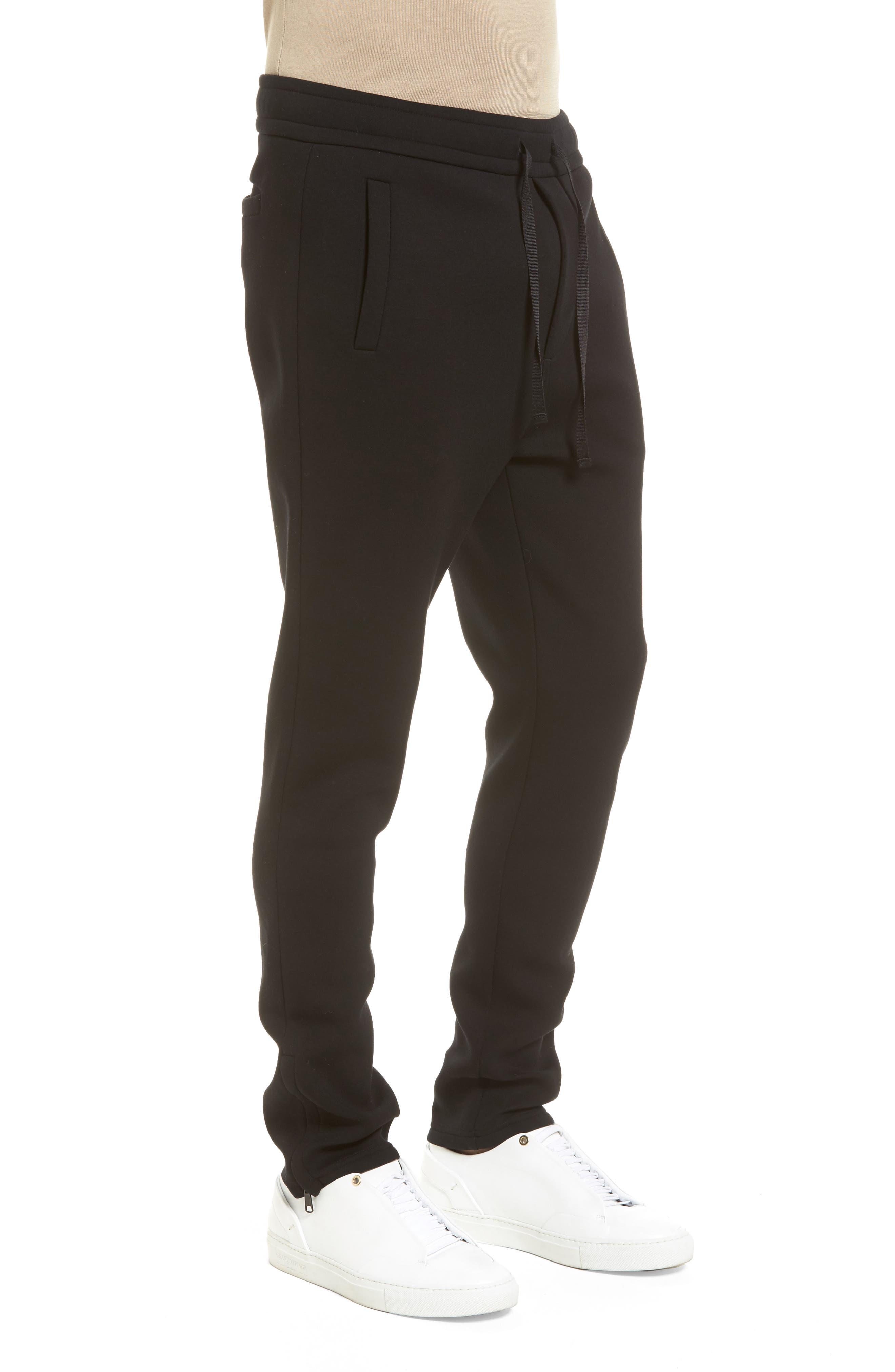 VINCE,                             Tech Slim Fit Track Pants,                             Alternate thumbnail 3, color,                             001