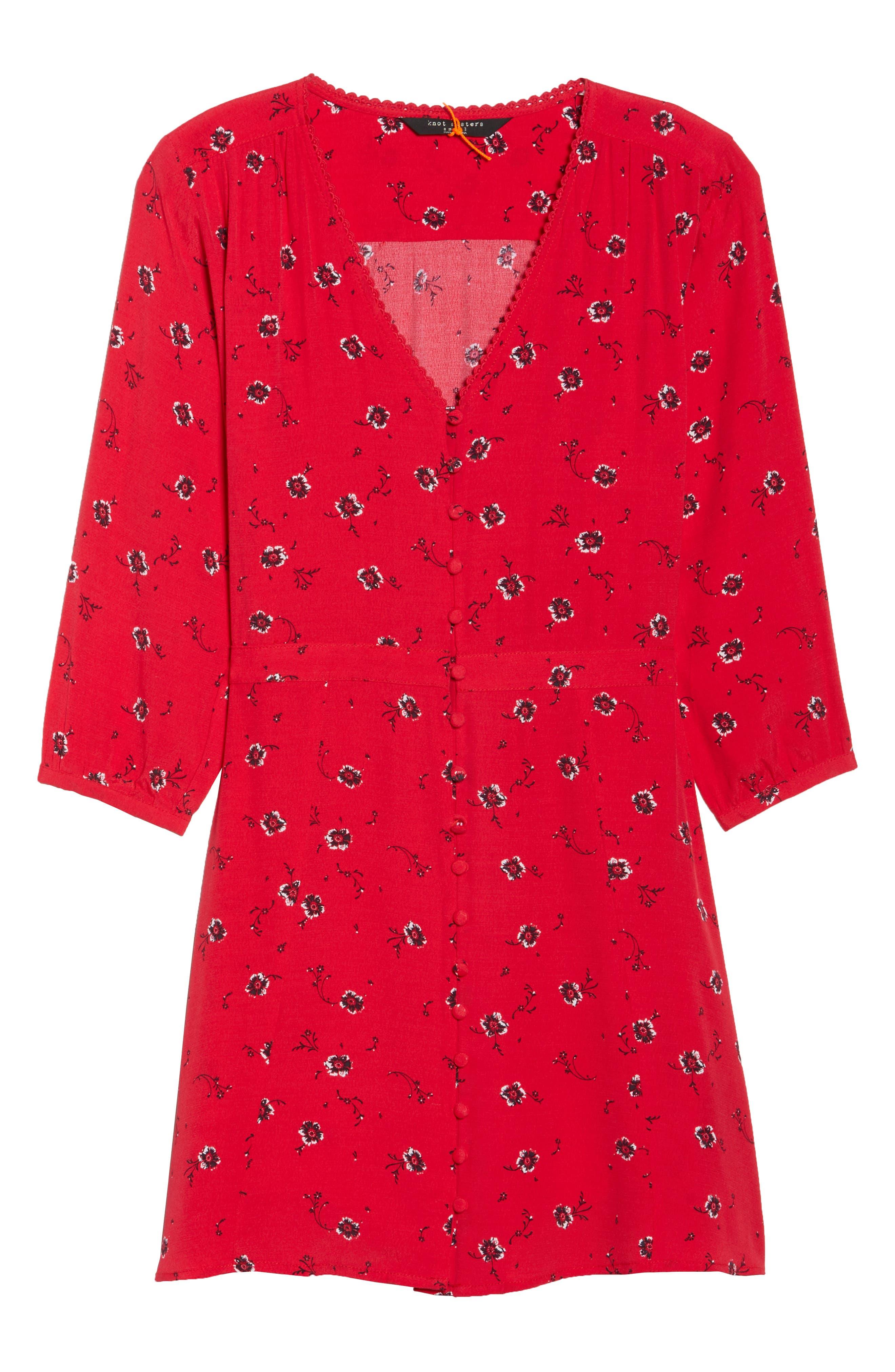 Luella Floral Print Dress,                             Alternate thumbnail 7, color,                             650