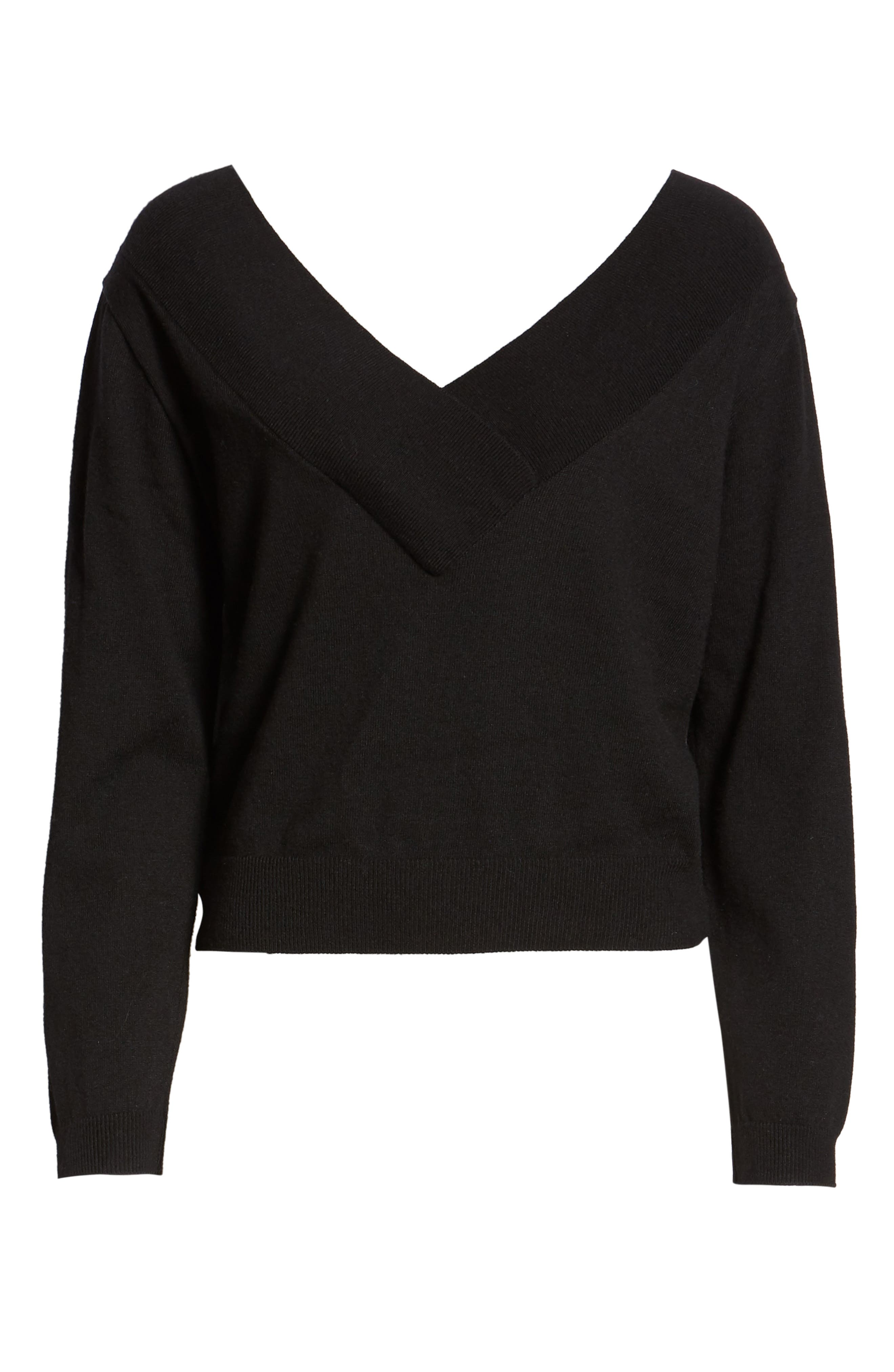 Double-V Pullover,                             Alternate thumbnail 6, color,                             001