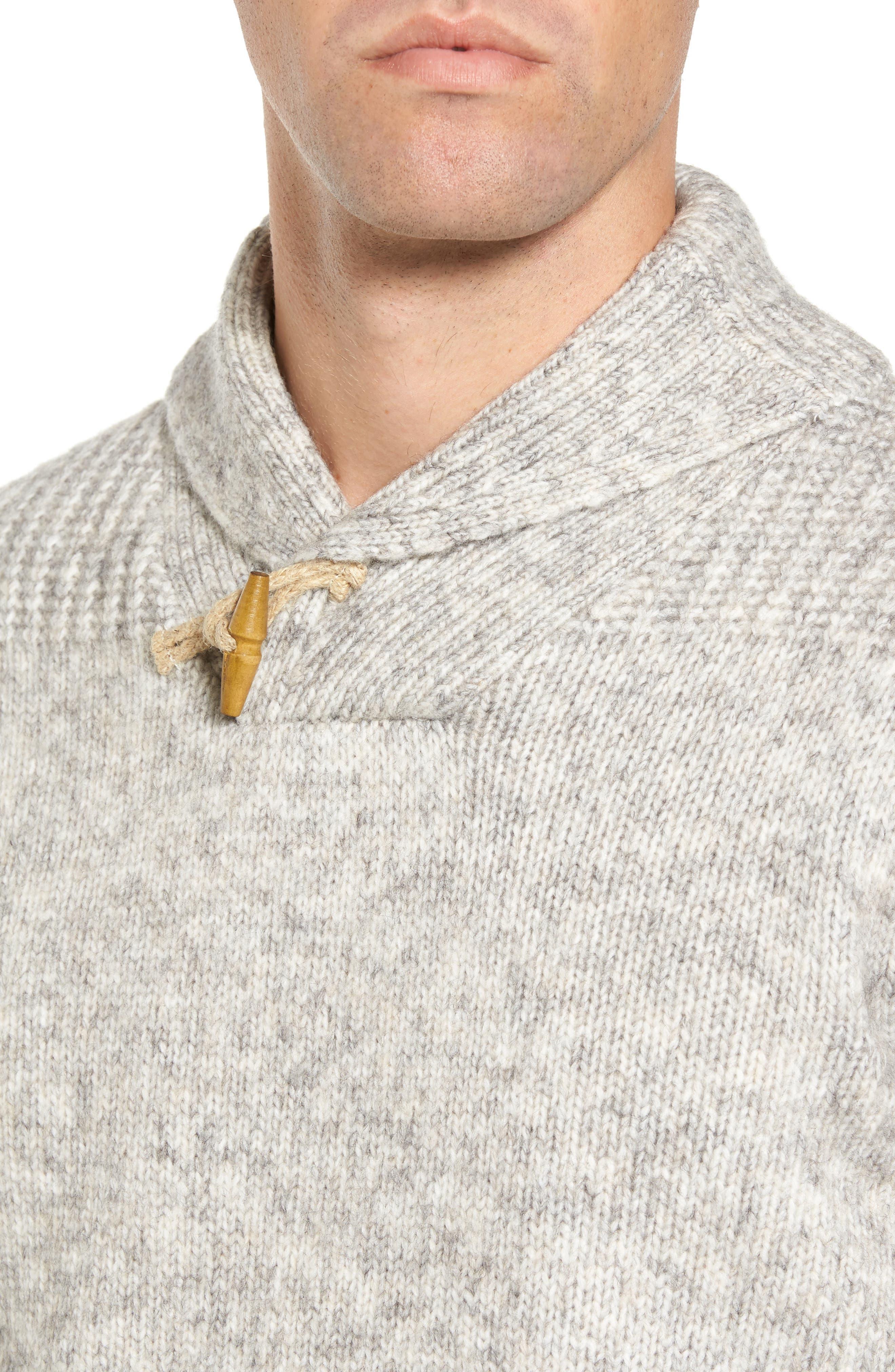 Toggle Shawl Collar Sweater,                             Alternate thumbnail 4, color,                             045