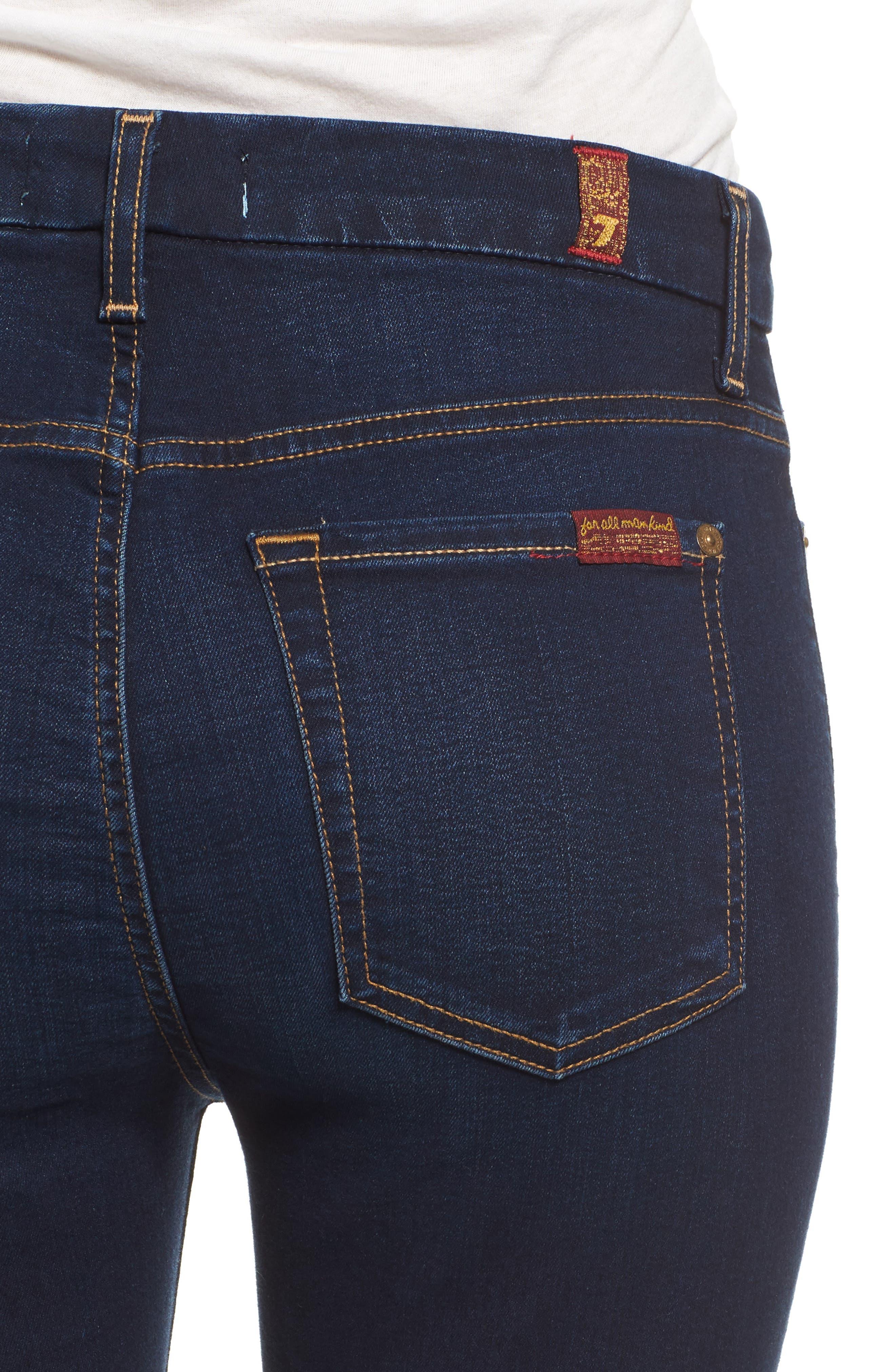 b(air) High Waist Skinny Jeans,                             Alternate thumbnail 6, color,                             400