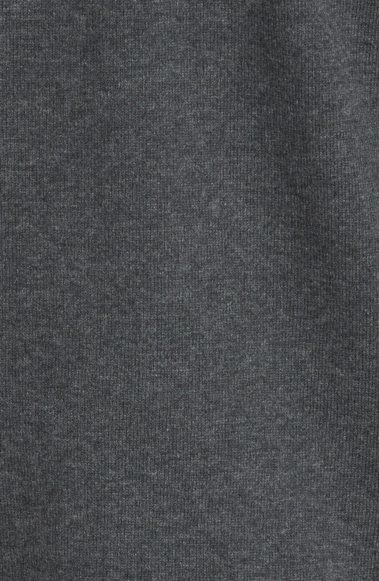 Seattle Seahawks - Lakemont Regular Fit Quarter Zip Sweater,                             Alternate thumbnail 5, color,                             CHARCOAL HEATHER