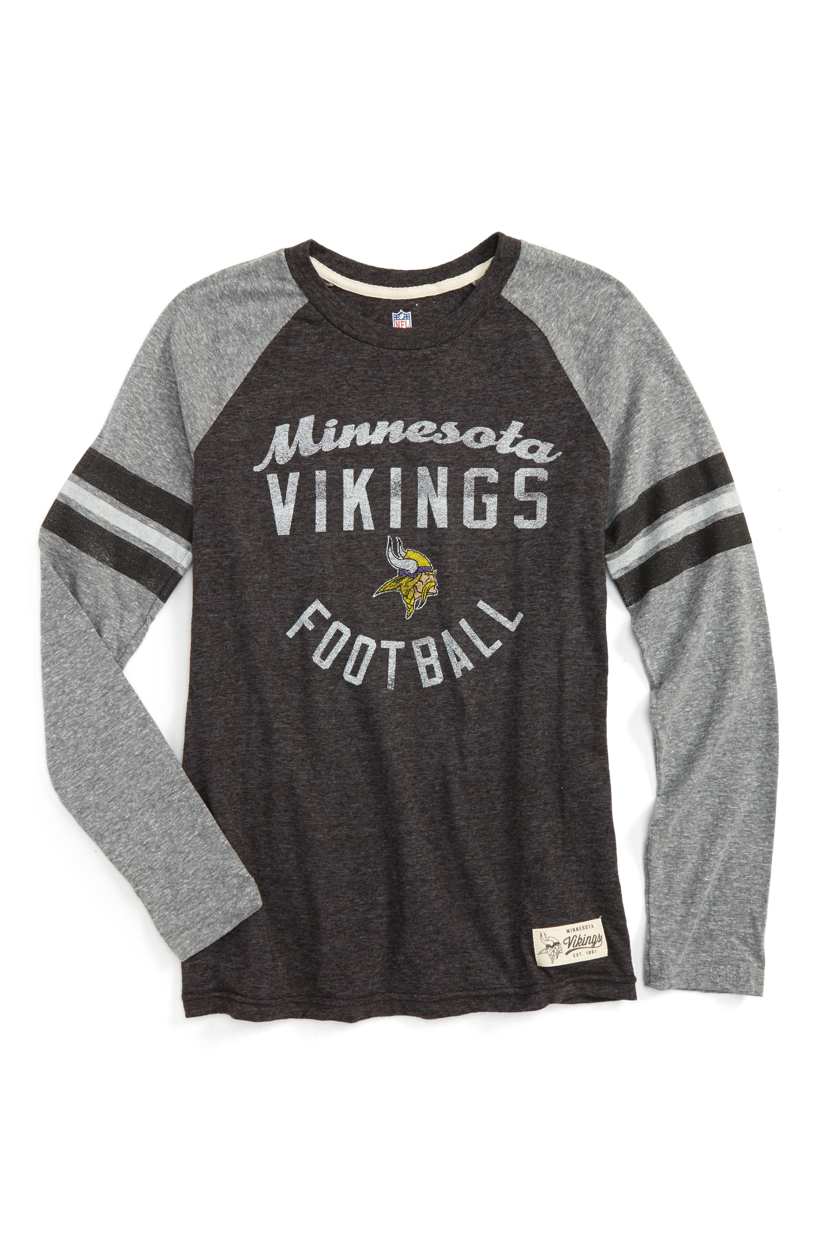 NFL Minnesota Vikings Distressed Logo T-Shirt,                         Main,                         color, 500