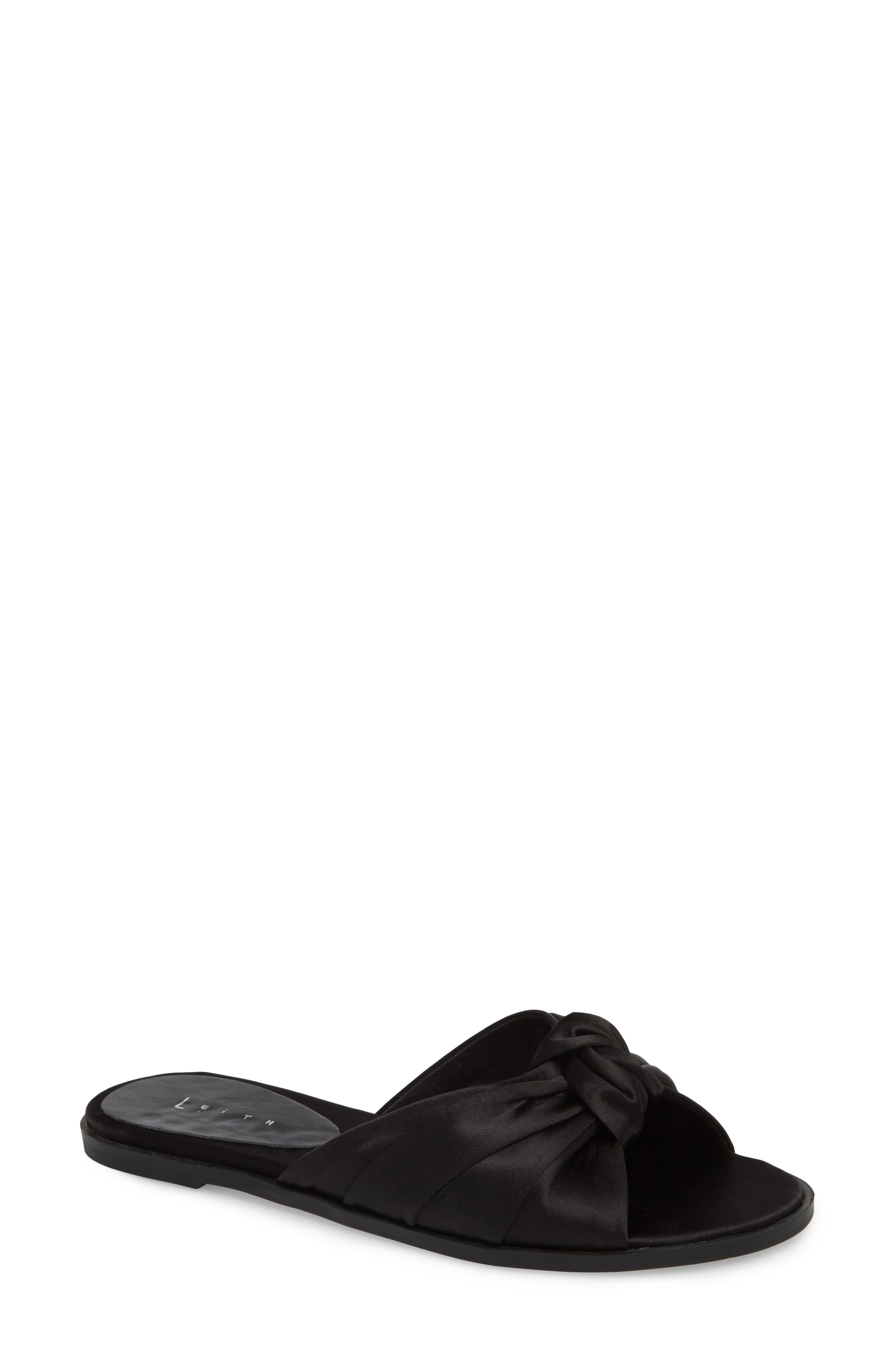 Nevie Knotted Slide Sandal,                         Main,                         color, 002