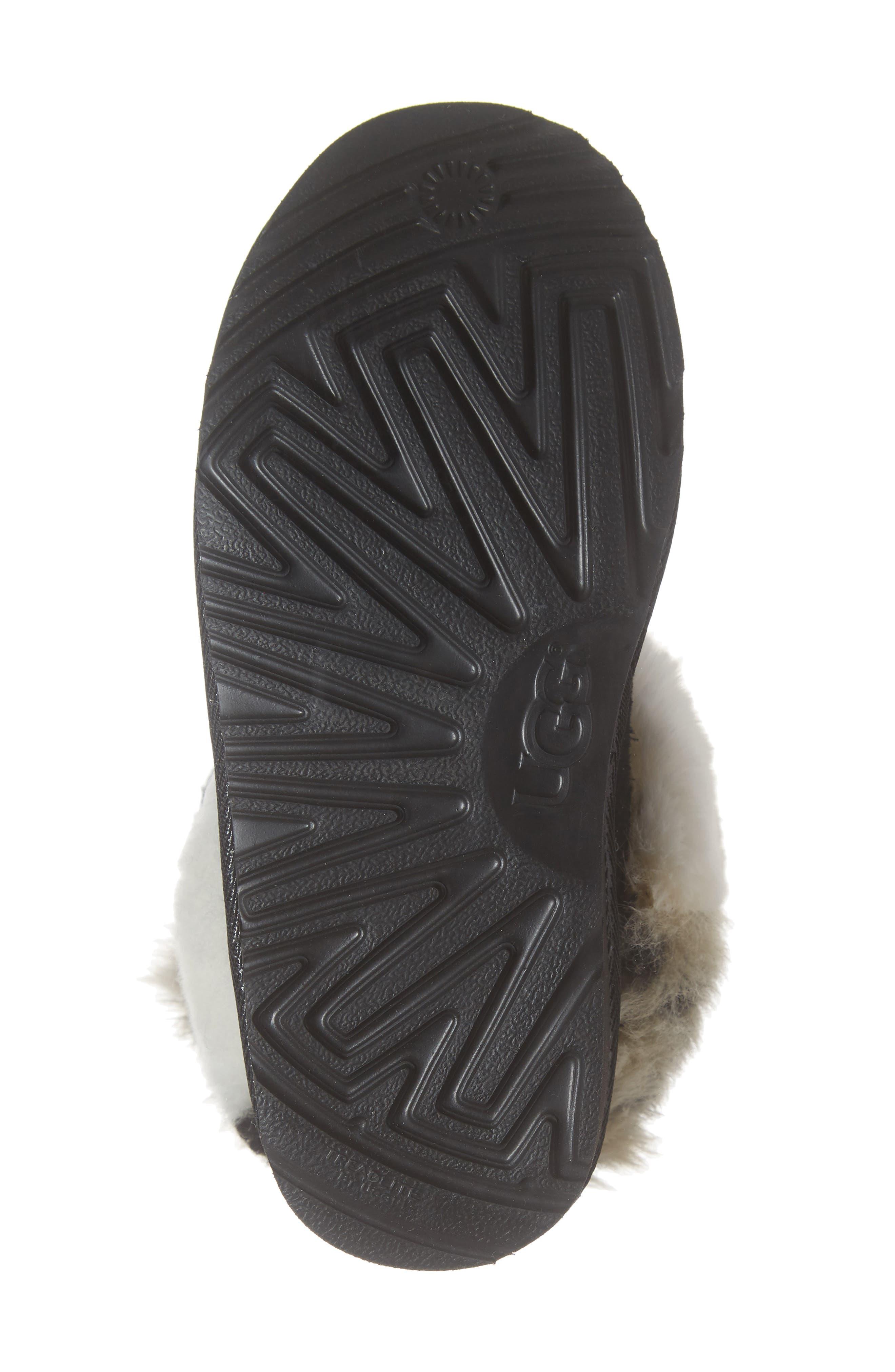 Classic Short Genuine Shearling & Faux Fur Patchwork Boot,                             Alternate thumbnail 6, color,                             001