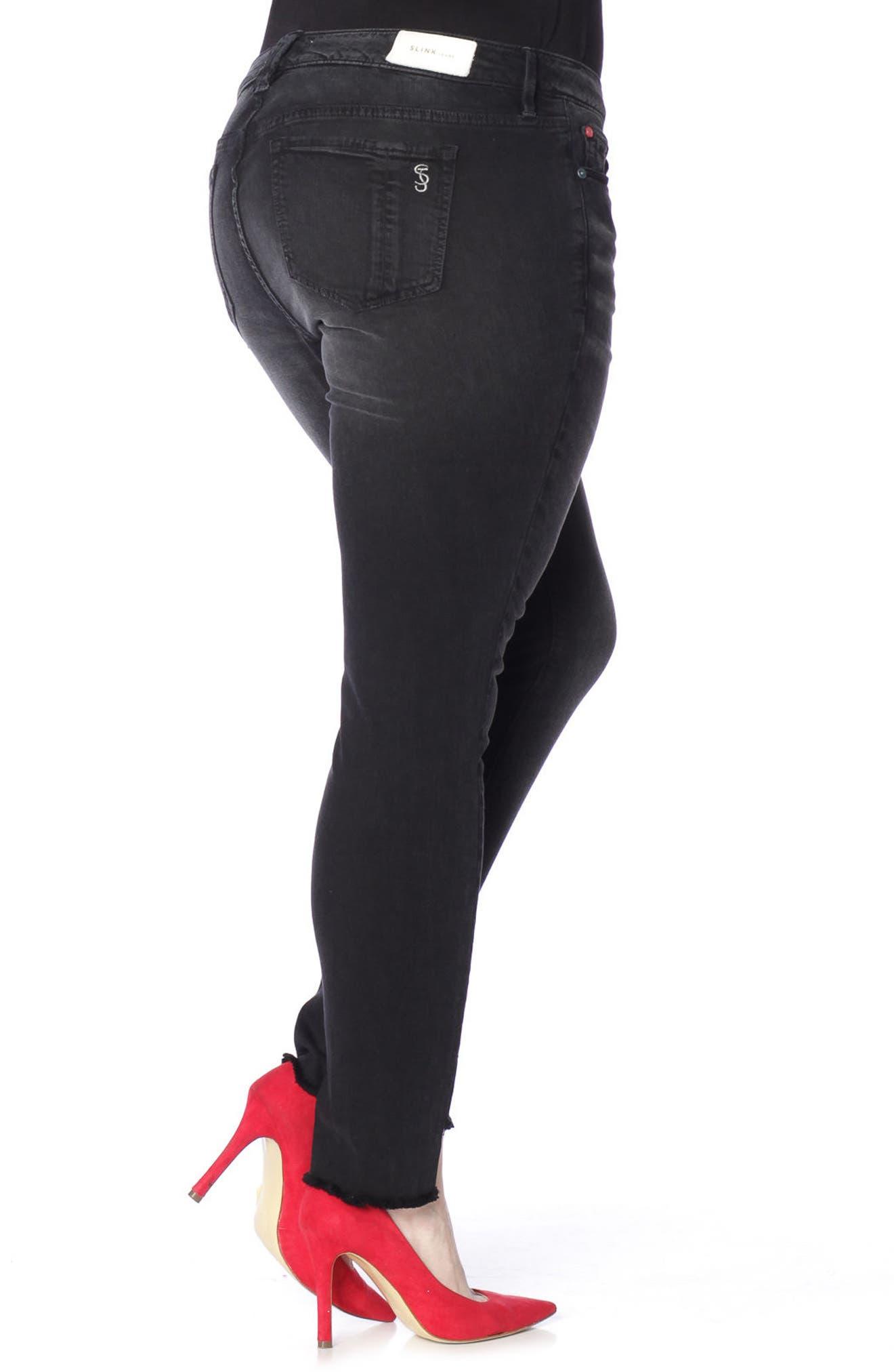 Step Hem Stretch Skinny Jeans,                             Alternate thumbnail 3, color,                             400