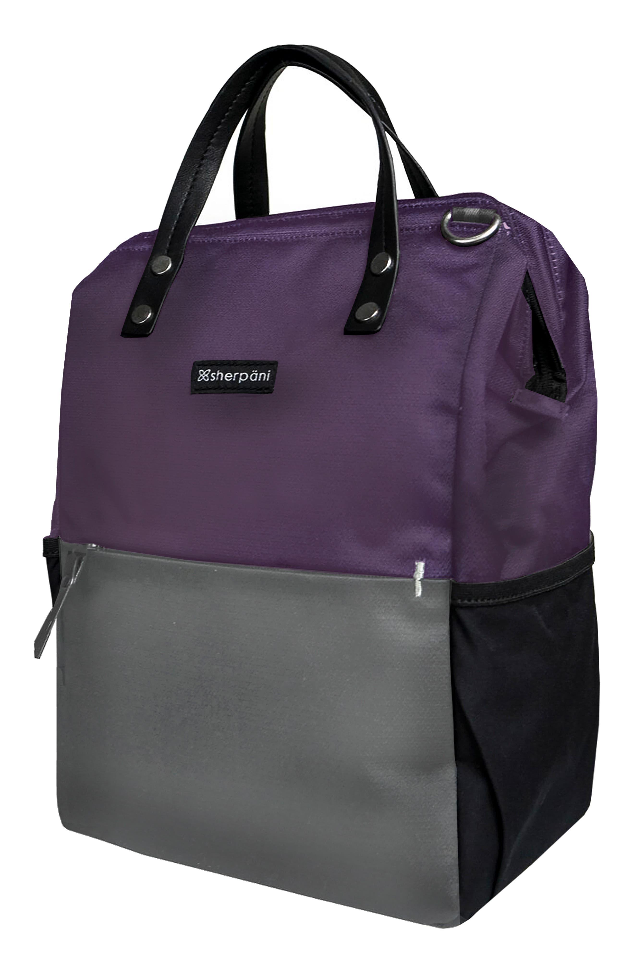 Dispatch Water Resistant RFID Pocket Convertible Backpack,                         Main,                         color, DAHLIA/ FLINT