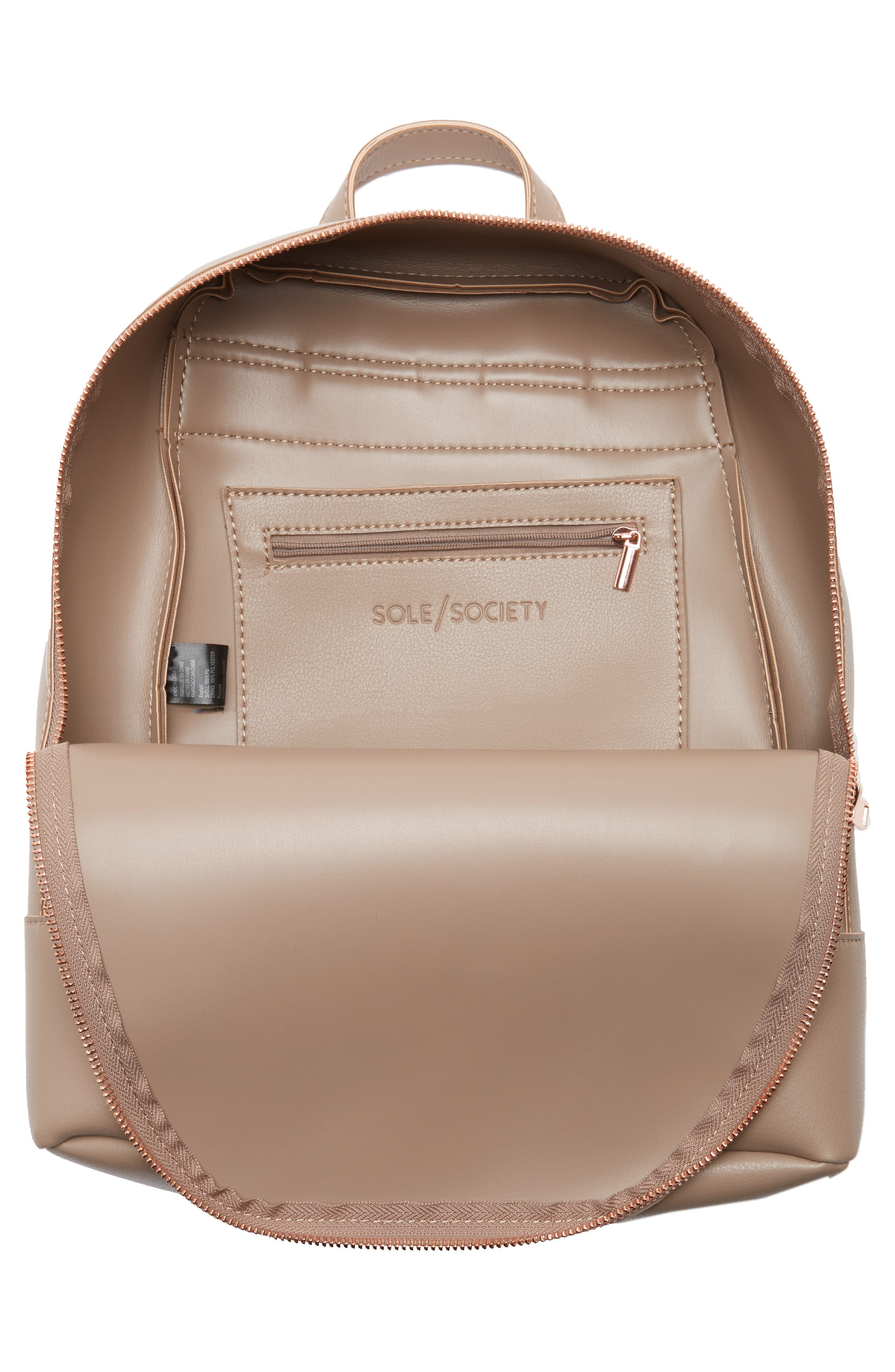 Chester Faux Leather Backpack,                             Alternate thumbnail 8, color,