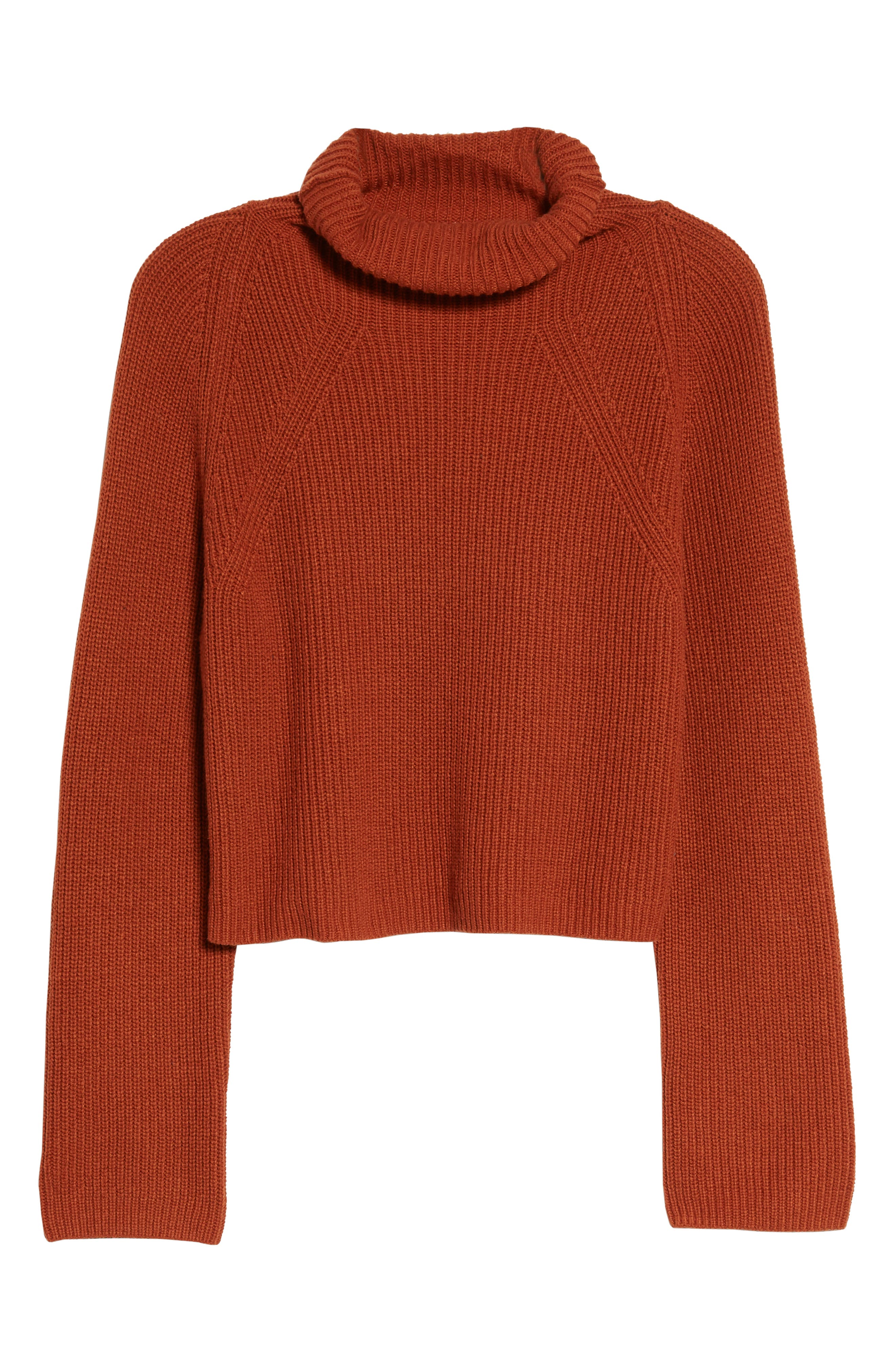 LEITH, Transfer Stitch Turtleneck Sweater, Alternate thumbnail 6, color, 210