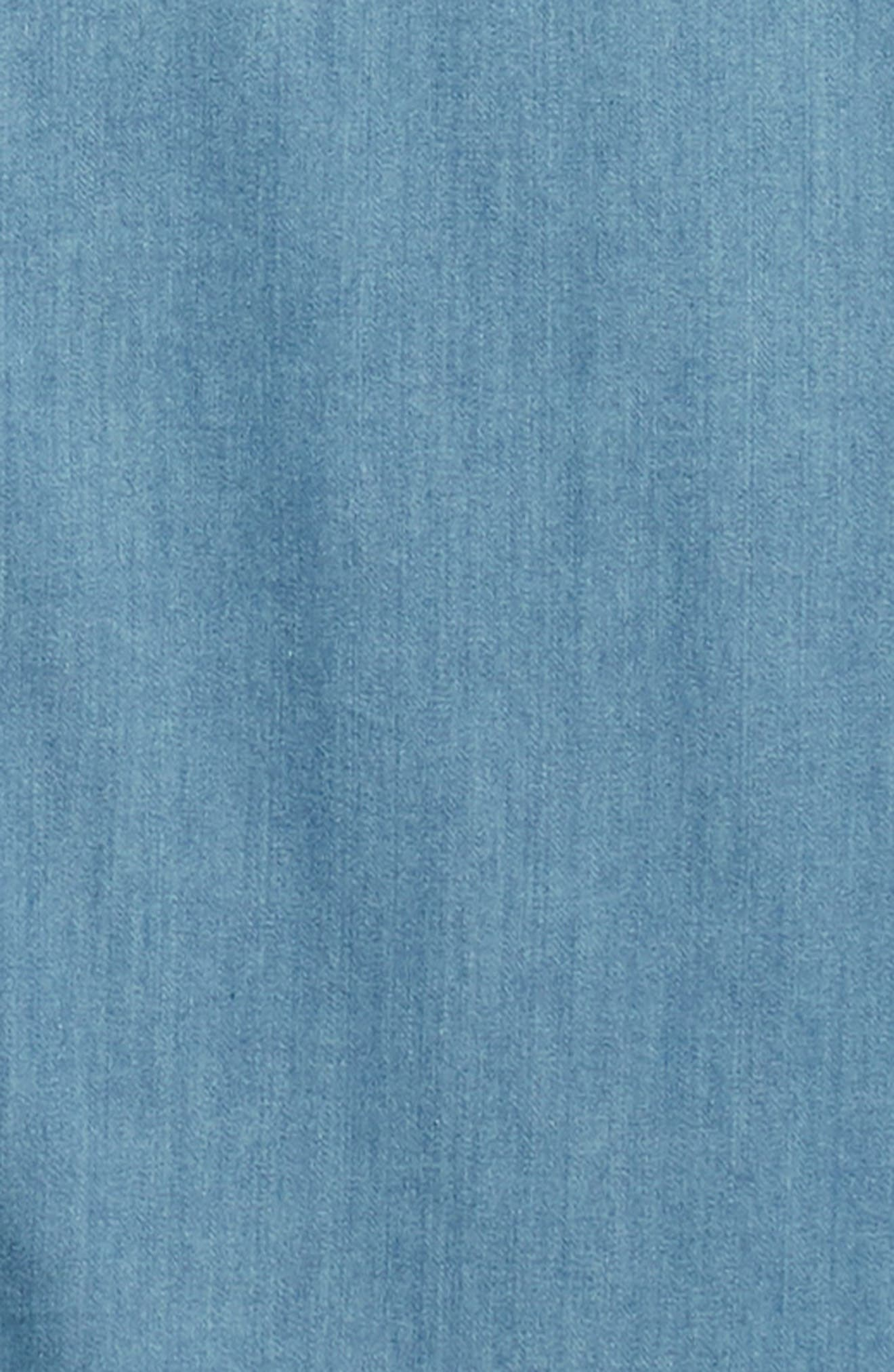 Slim Fit Chambray Sport Shirt,                             Alternate thumbnail 6, color,                             BLUE HEAVEN CHAMBRAY