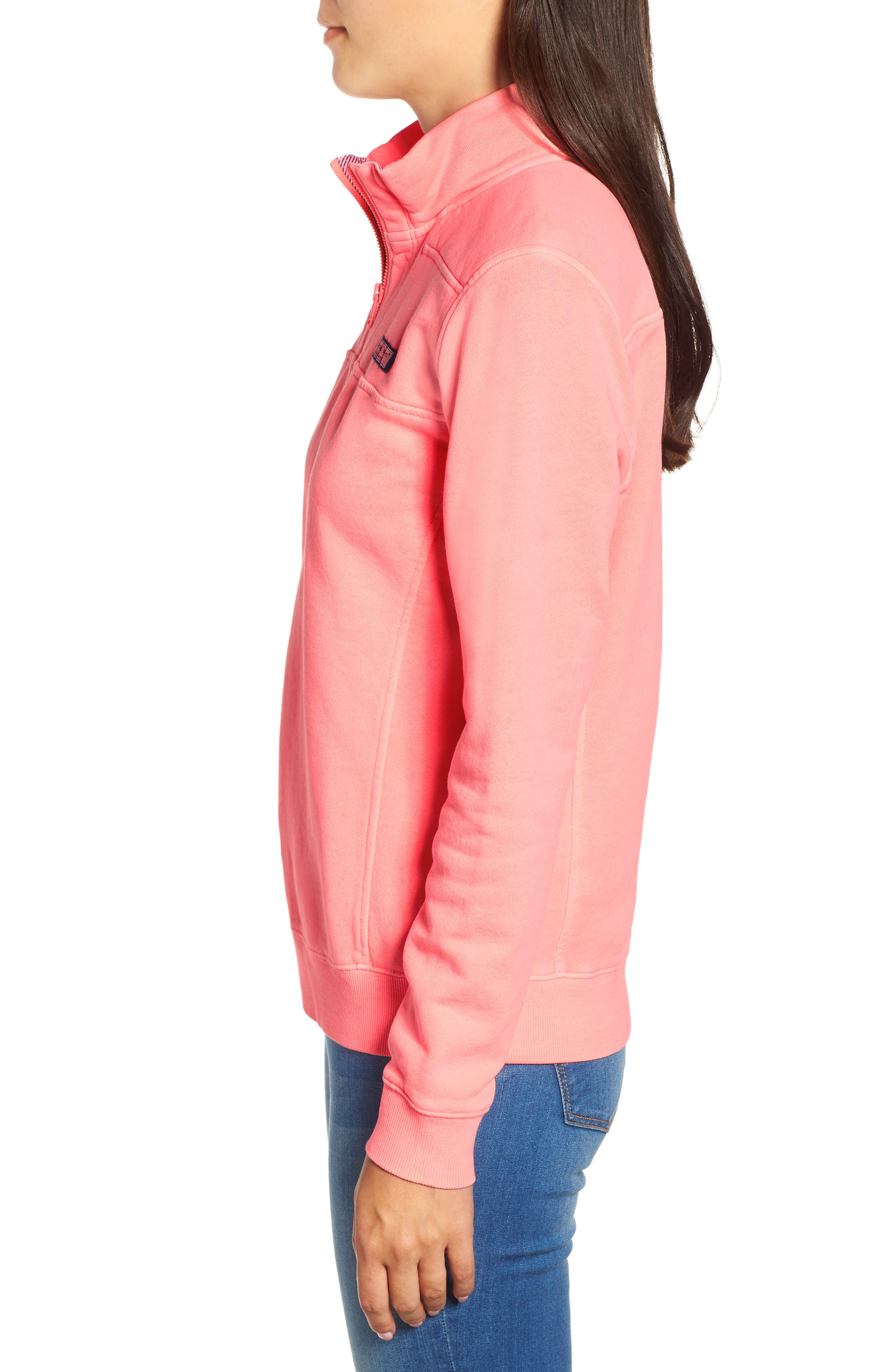 Garment Dyed Classic Shep Pullover,                             Alternate thumbnail 3, color,                             CORAL SAND