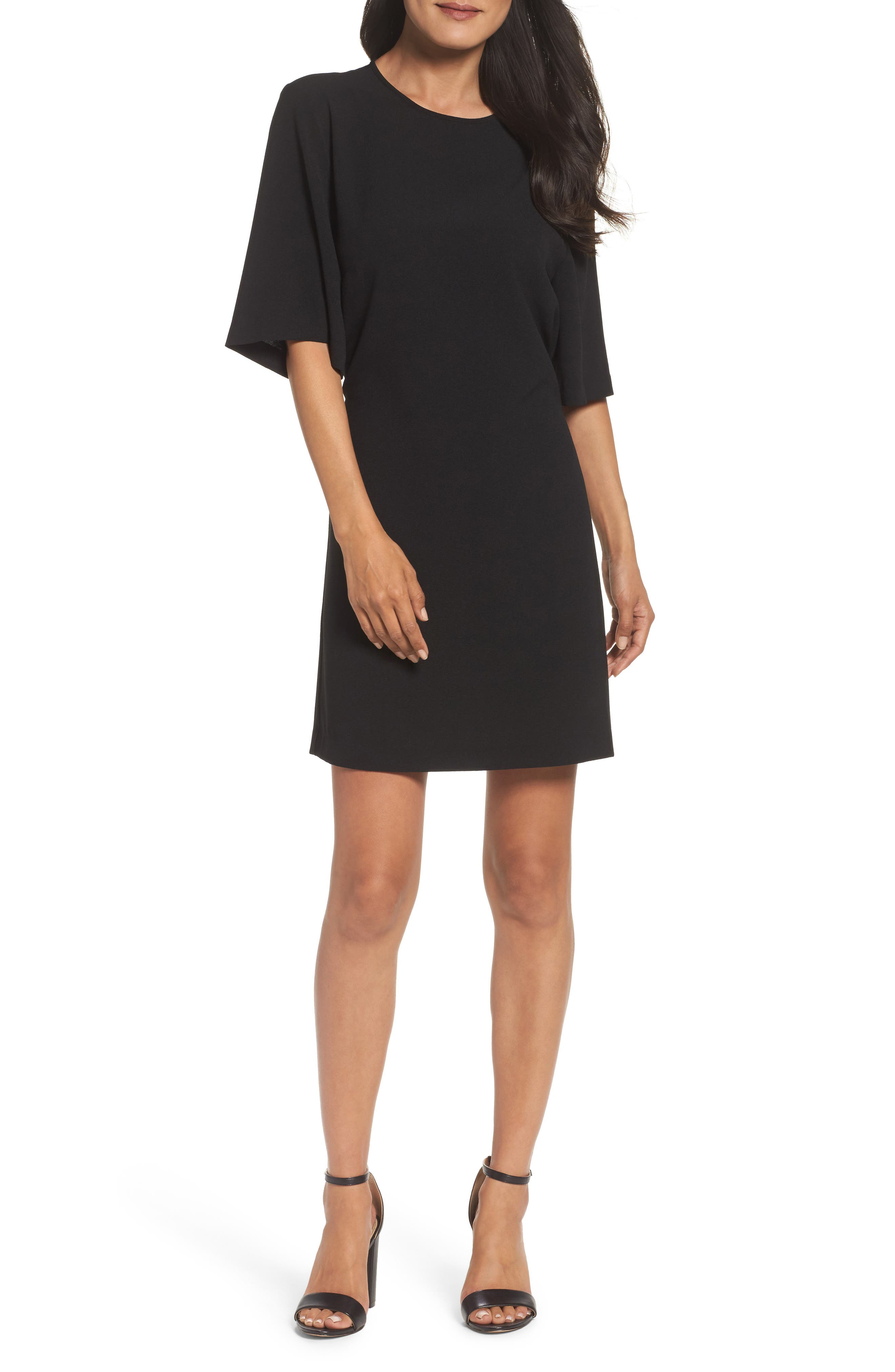 Dara Shift Dress,                             Alternate thumbnail 6, color,                             BLACK