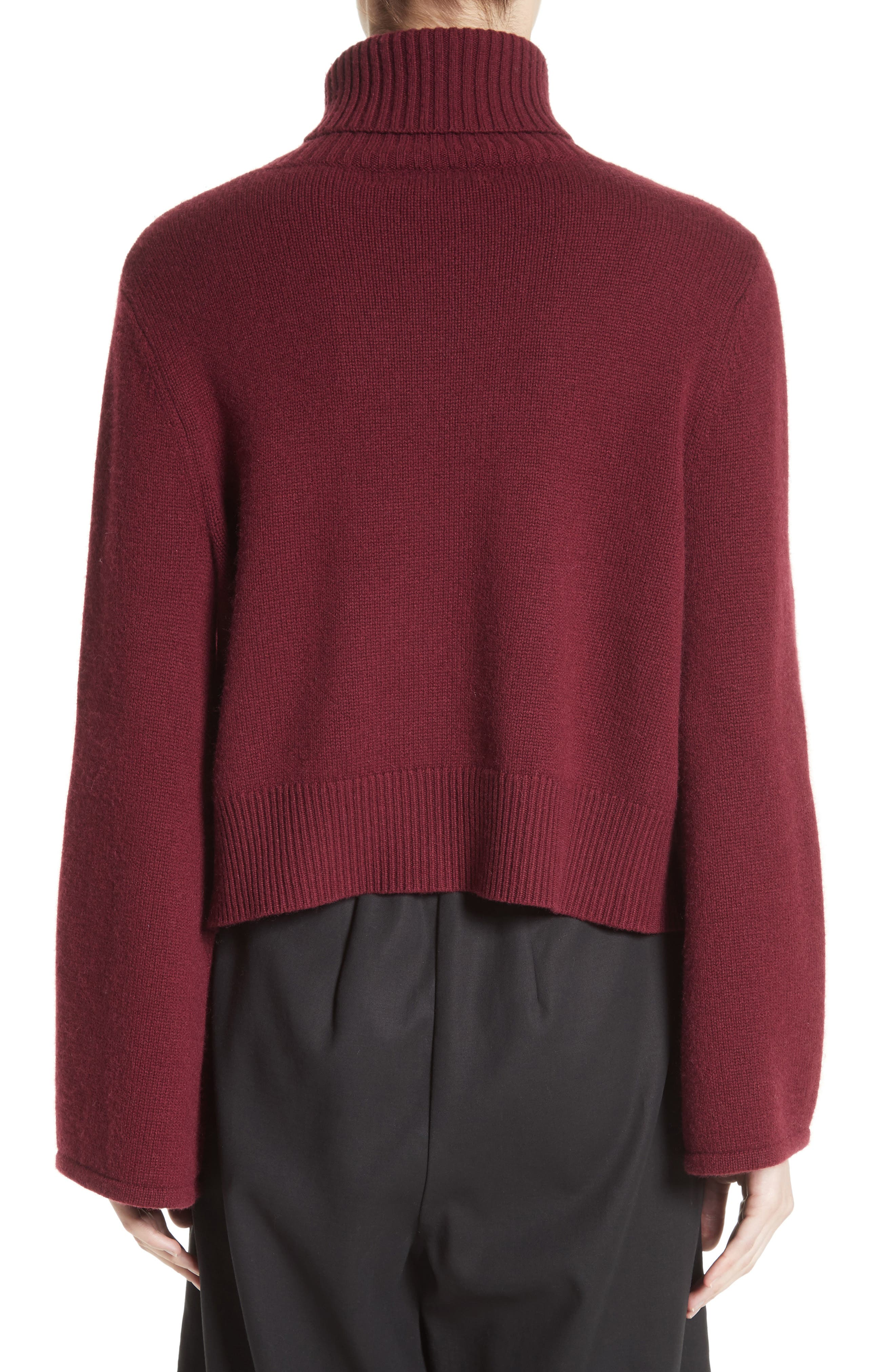 Bell Sleeve Wool & Cashmere Sweater,                             Alternate thumbnail 2, color,                             930