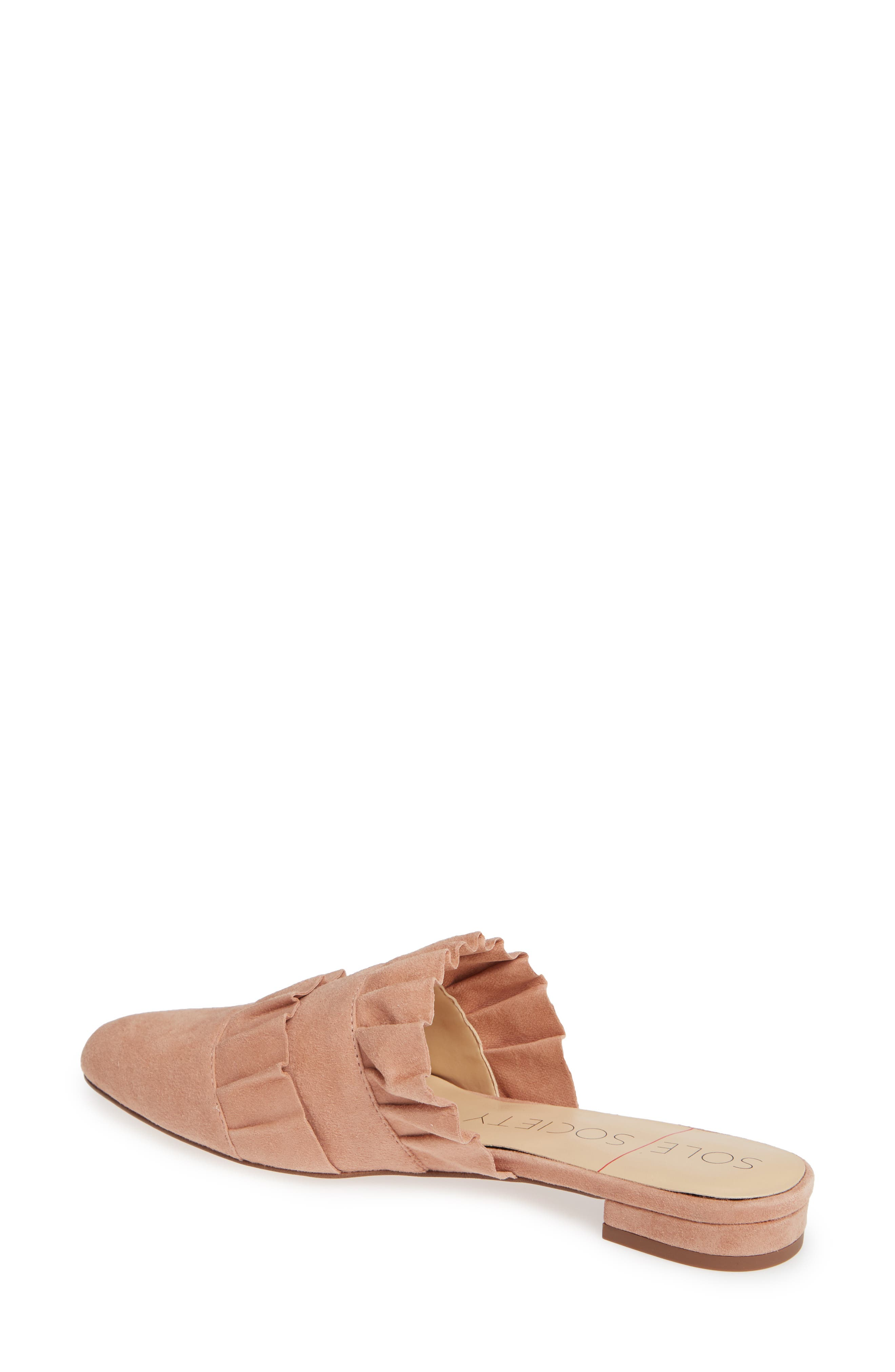 Pollina Mule,                             Alternate thumbnail 2, color,                             AGED ROSE SUEDE