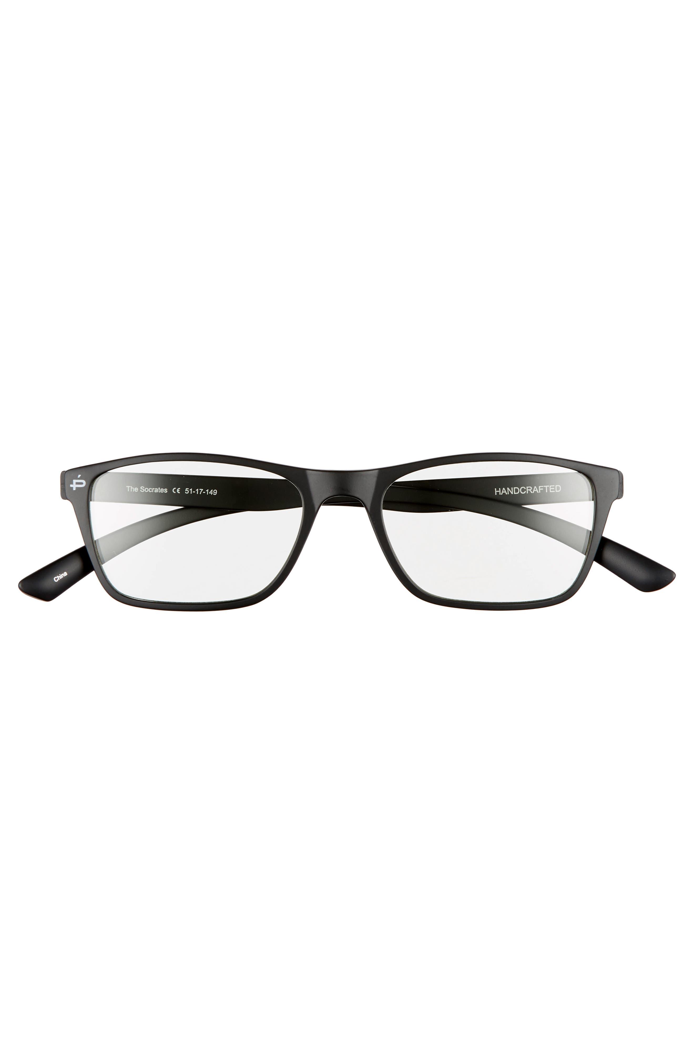 PRIVÉ REVAUX,                             The Socrates 51mm Blue Light Blocking Glasses,                             Alternate thumbnail 3, color,                             001