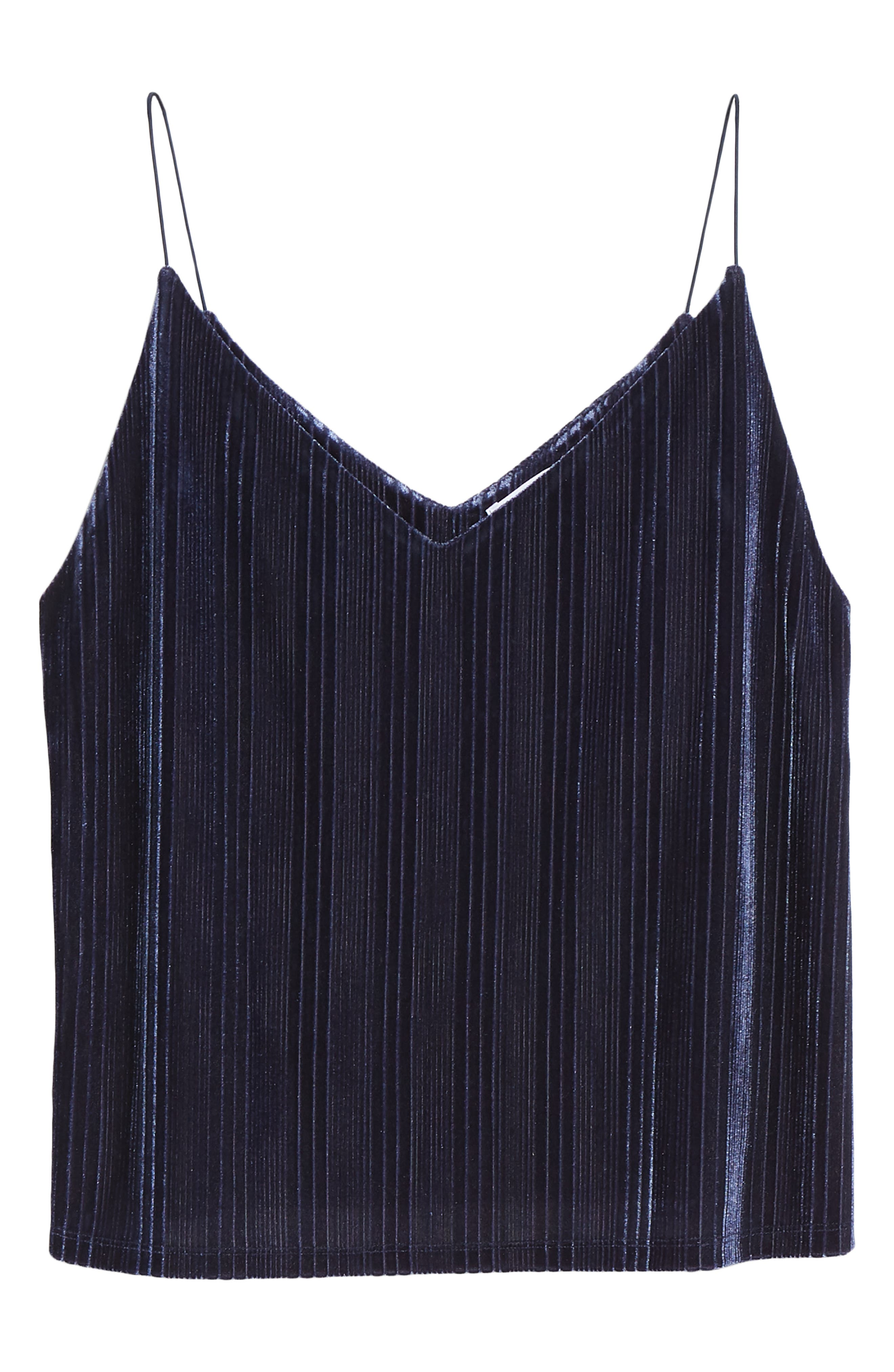 Velour Cami,                             Alternate thumbnail 6, color,                             NAVY MARITIME