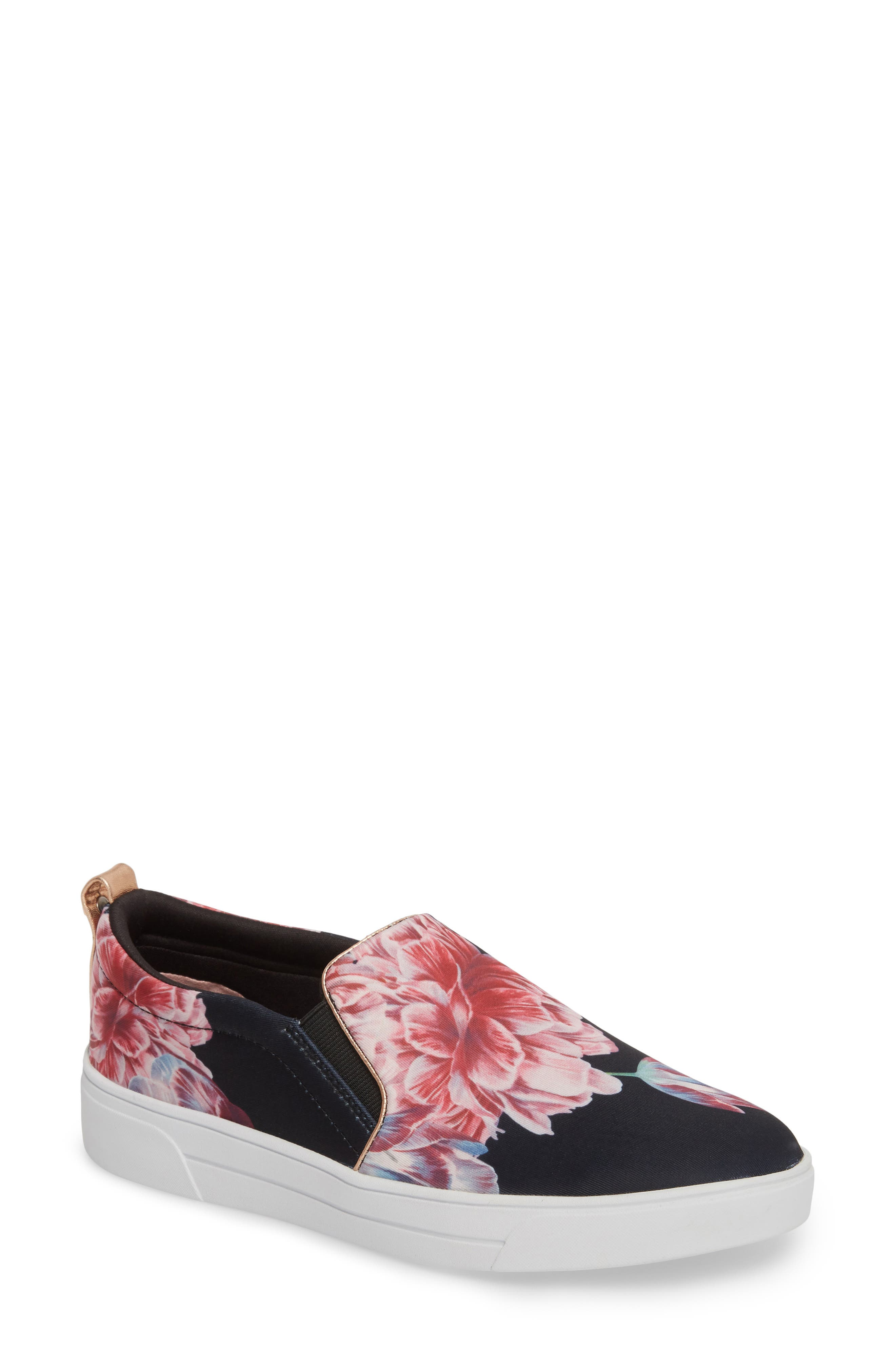 Tancey Slip-On Sneaker,                             Main thumbnail 1, color,                             BLACK TRANQUILITY FABRIC