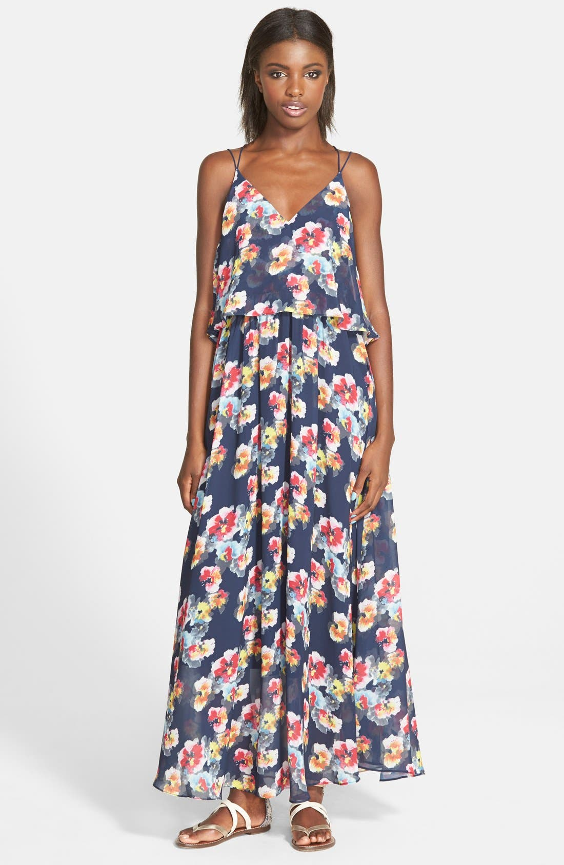 'Bonnie' Floral Maxi Dress,                             Main thumbnail 1, color,                             415