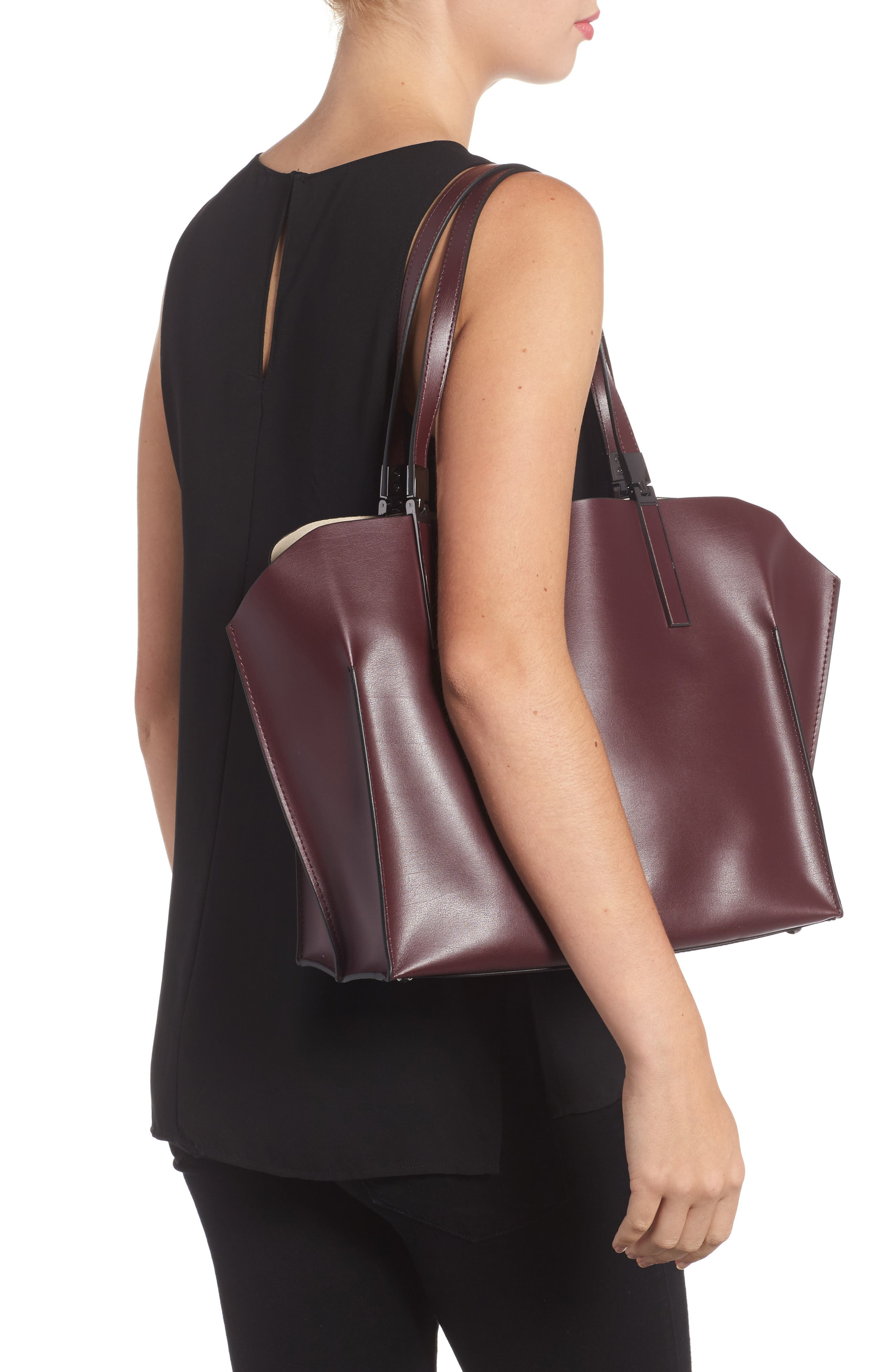 LODIS Silicon Valley Collection Under Lock & Key - Anita RFID East/West Leather Satchel,                             Alternate thumbnail 6, color,