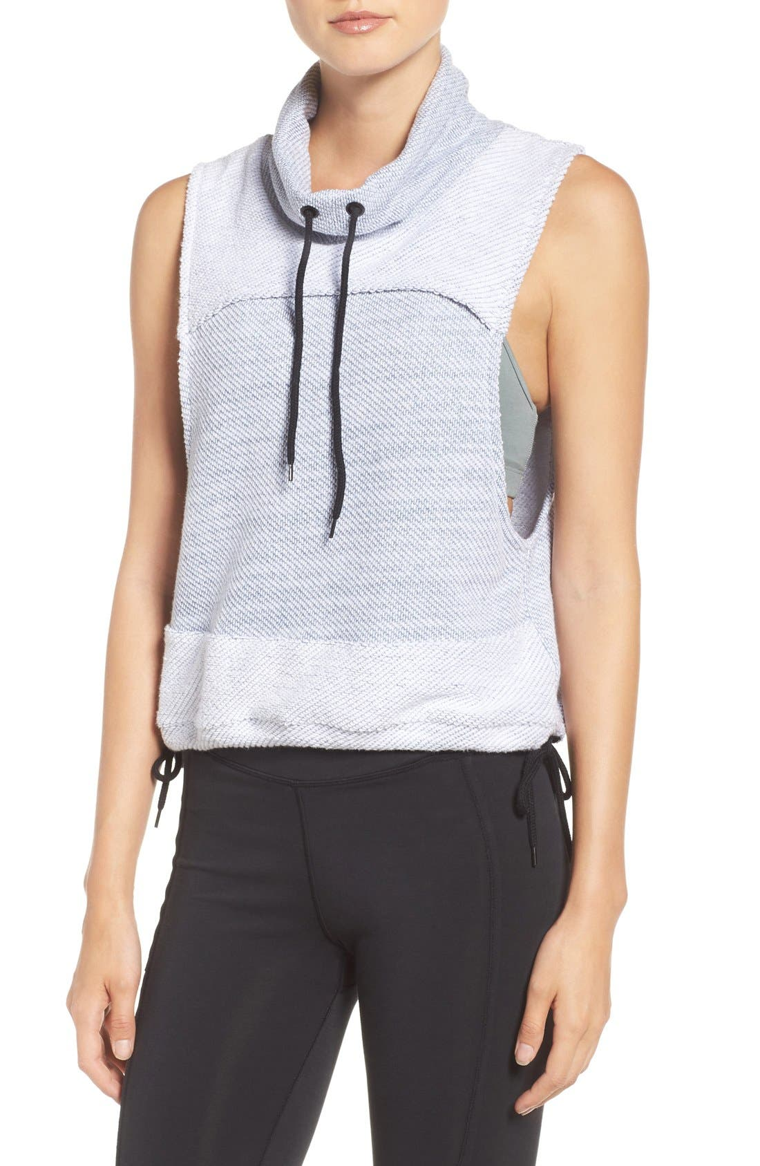 FREE PEOPLE MOVEMENT Free People 'Wrap It Up' Funnel Neck Vest in Grey