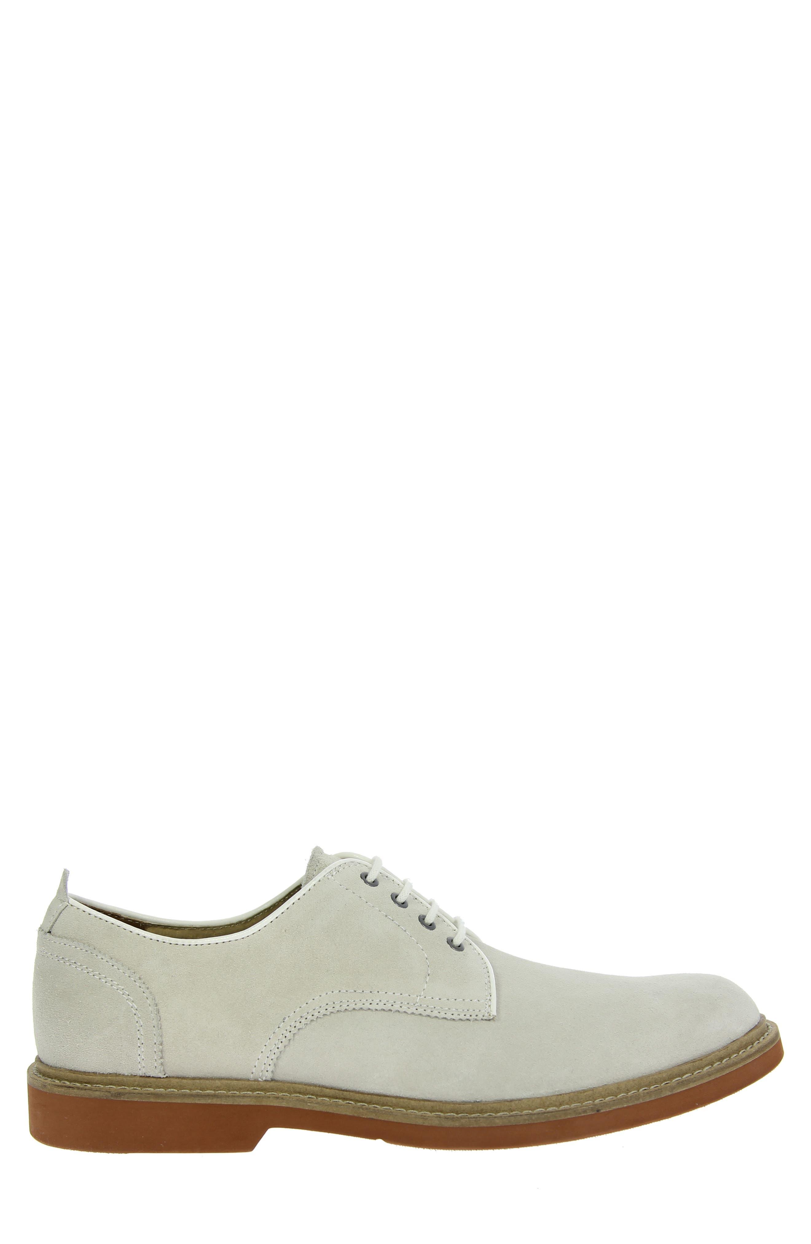 'Bucktown' Buck Shoe,                             Alternate thumbnail 6, color,                             WHITE SUEDE