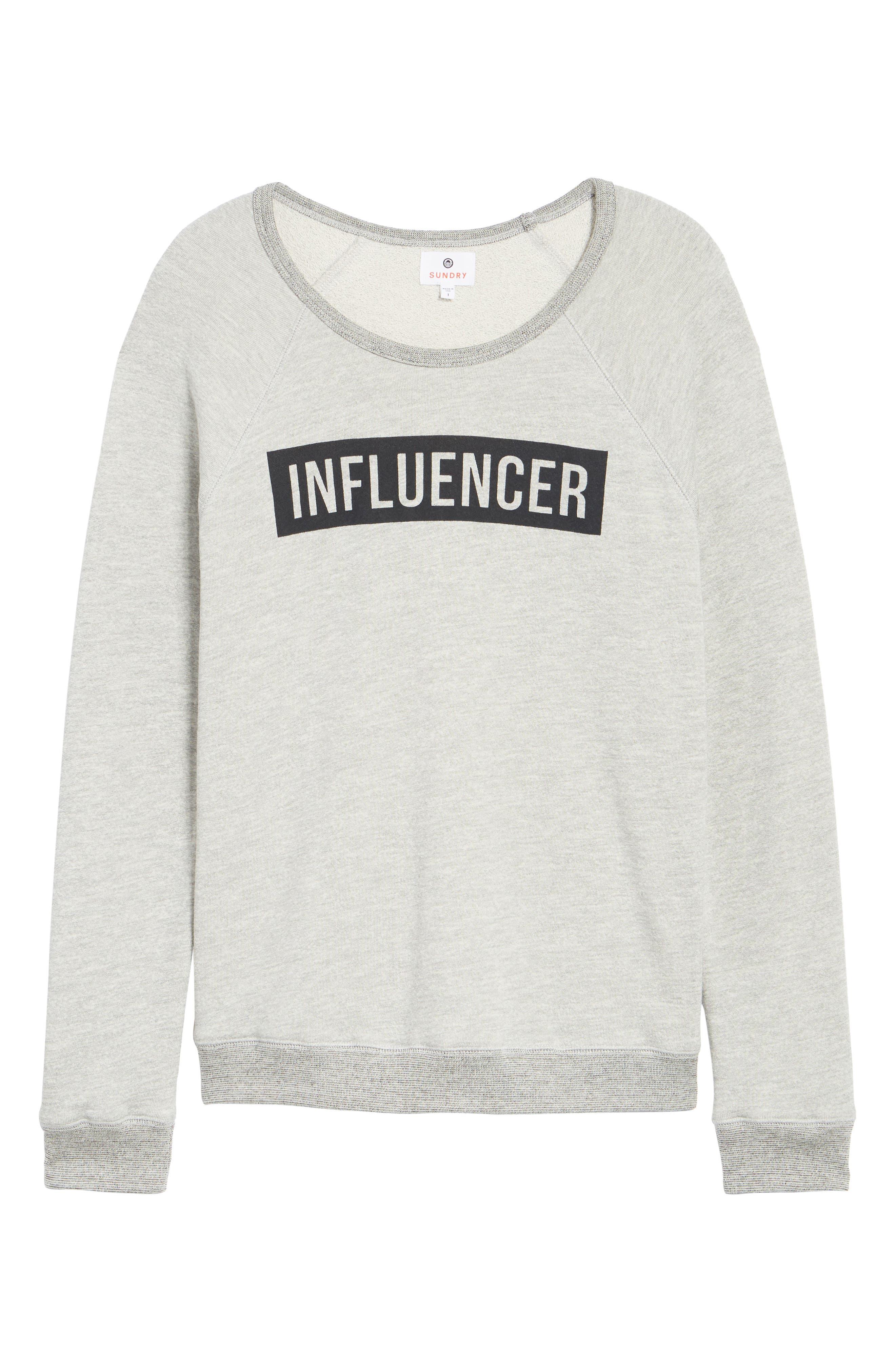 Influencer Sweatshirt,                             Alternate thumbnail 7, color,                             039