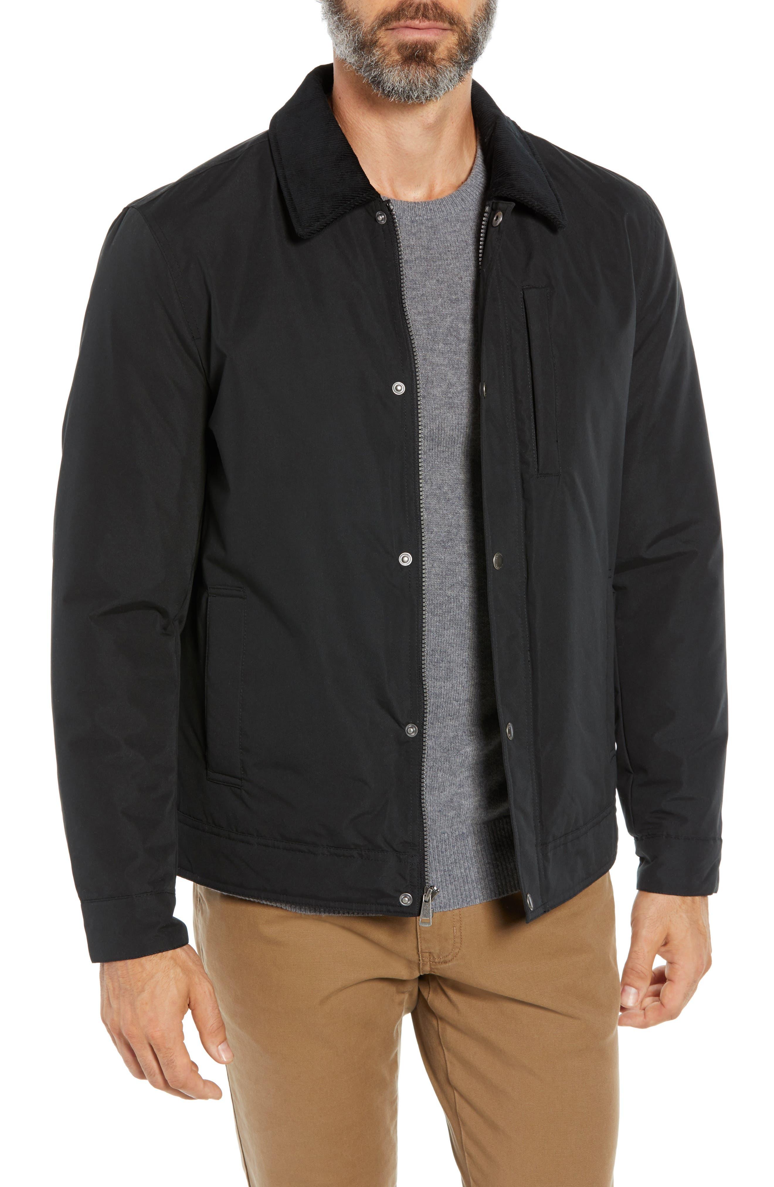 City Rain Barn Jacket,                         Main,                         color, BLACK