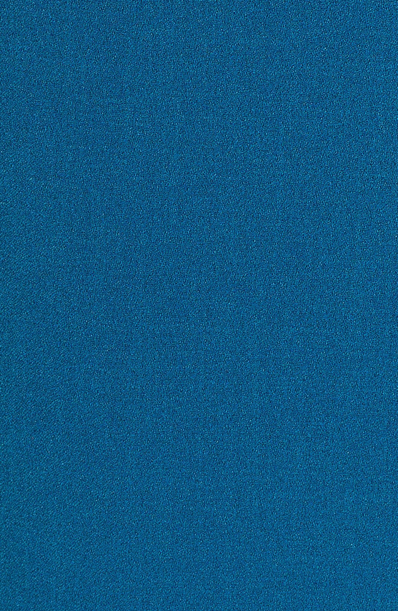 Ruffle Sleeve Sheath Dress,                             Alternate thumbnail 6, color,                             TEAL