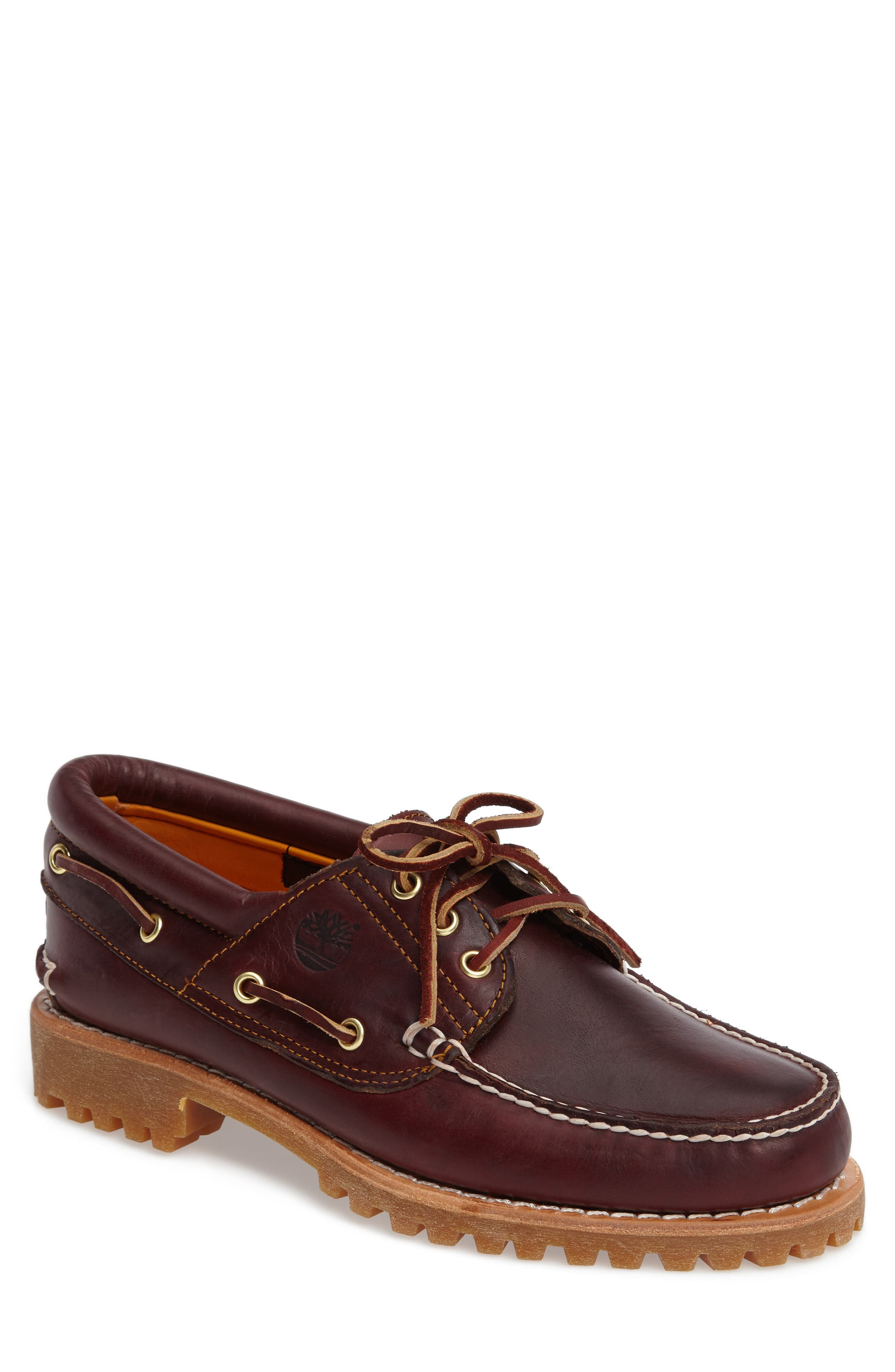 Authentic Boat Shoe,                         Main,                         color, ROOTBEER LEATHER