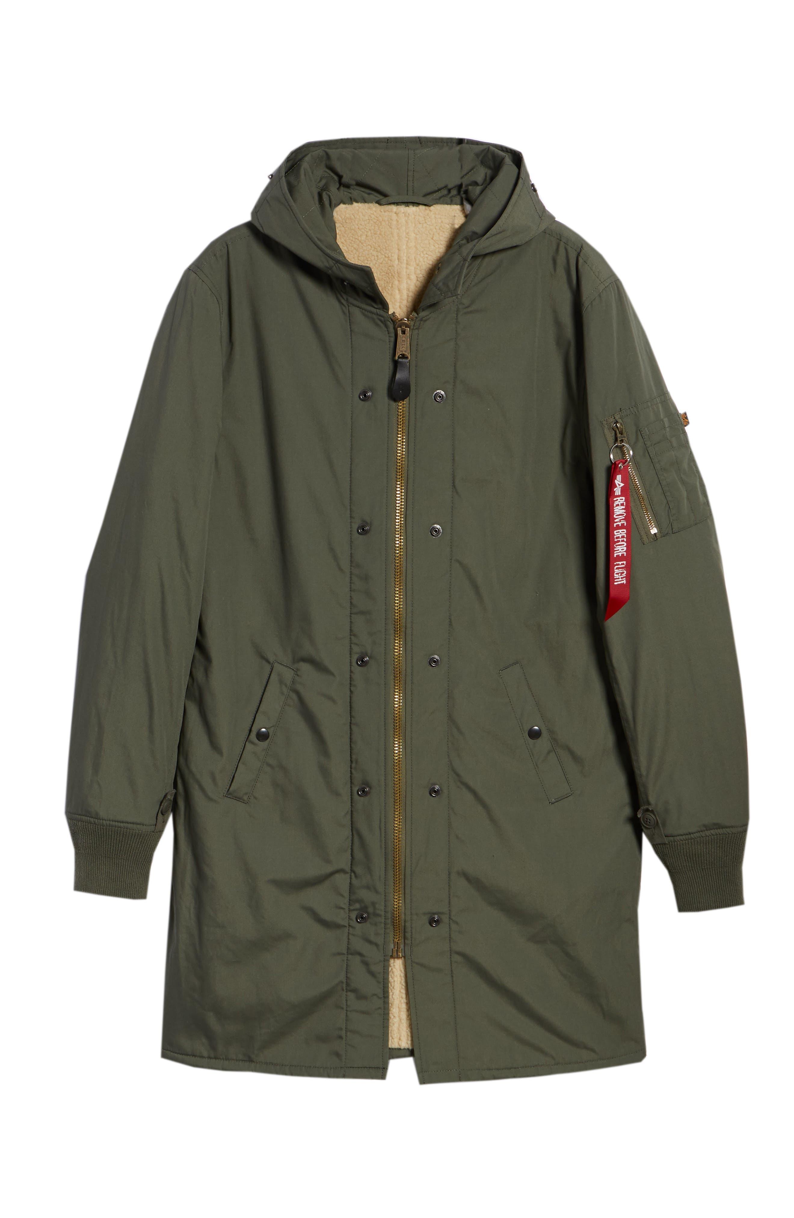 M-47 Faux Shearling Reversible Jacket,                             Alternate thumbnail 5, color,                             M-65 OLIVE