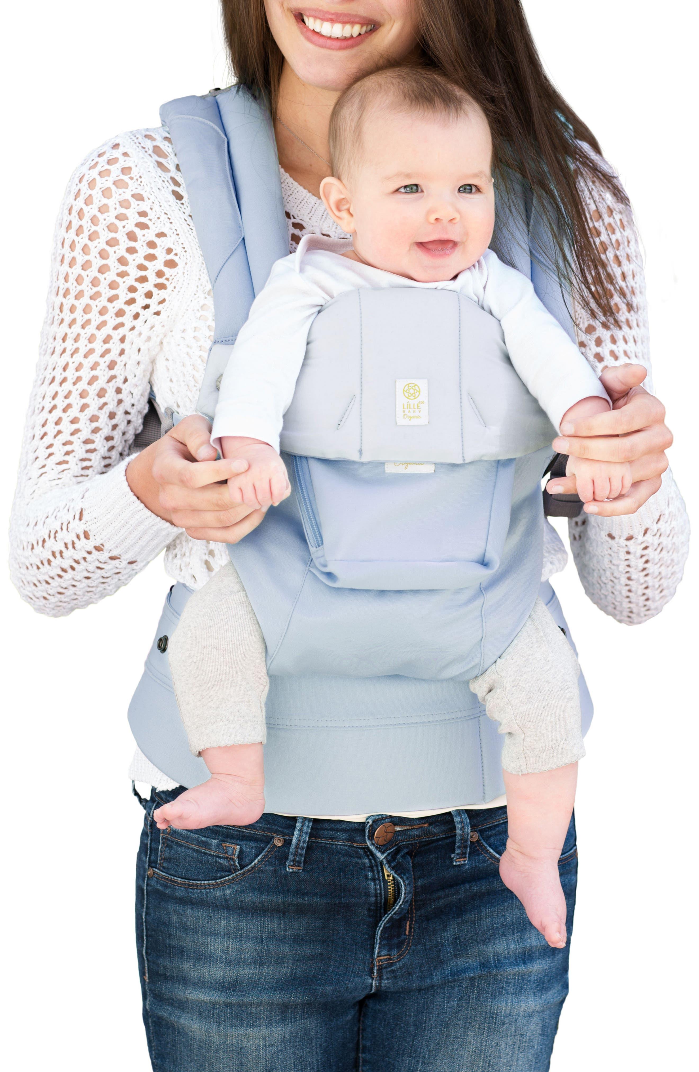 Complete 6-Position Organic Cotton Baby Carrier,                             Alternate thumbnail 2, color,                             POWDER BLUE