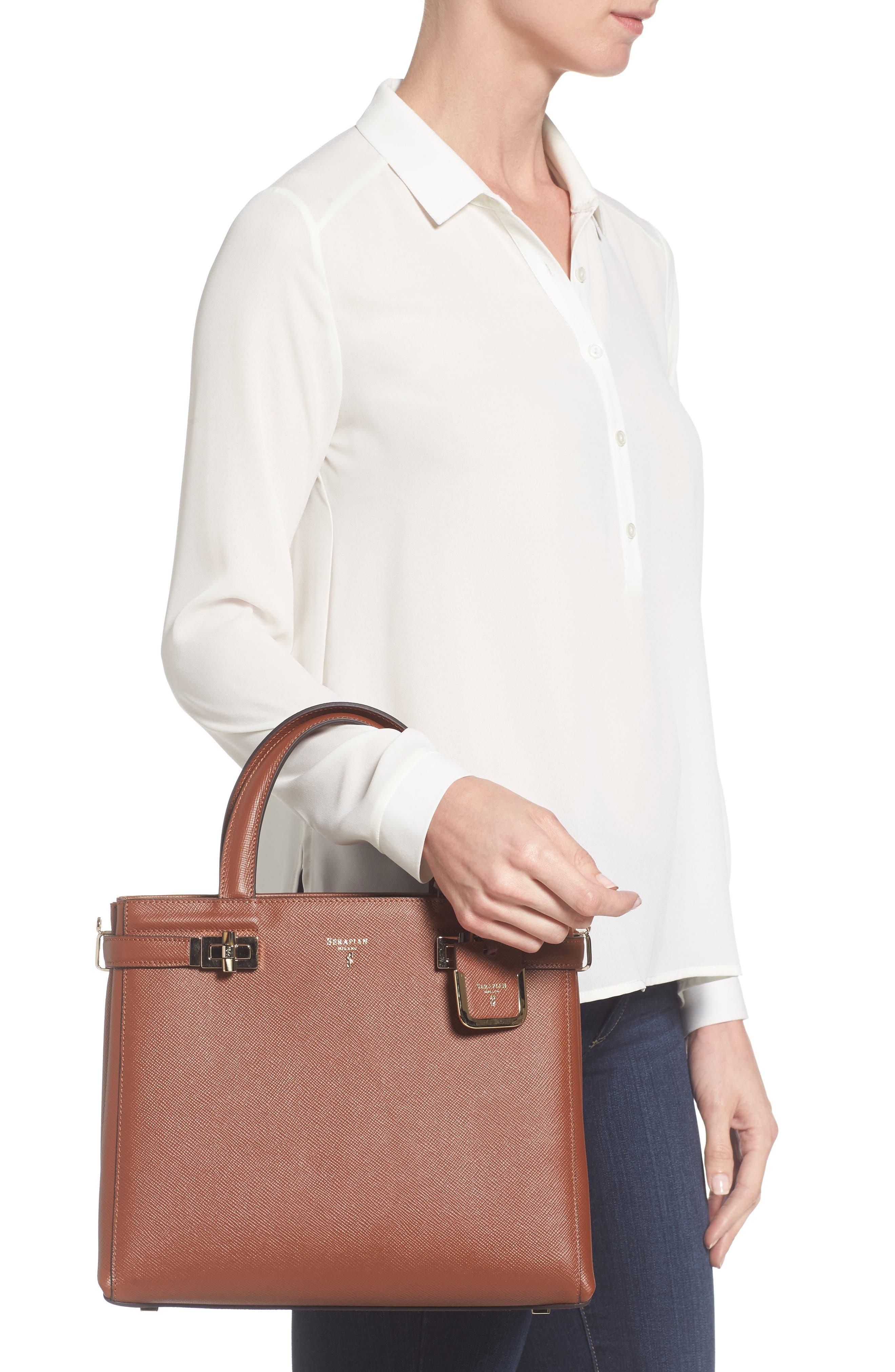 Small Meline Evolution Leather Bag,                             Alternate thumbnail 7, color,