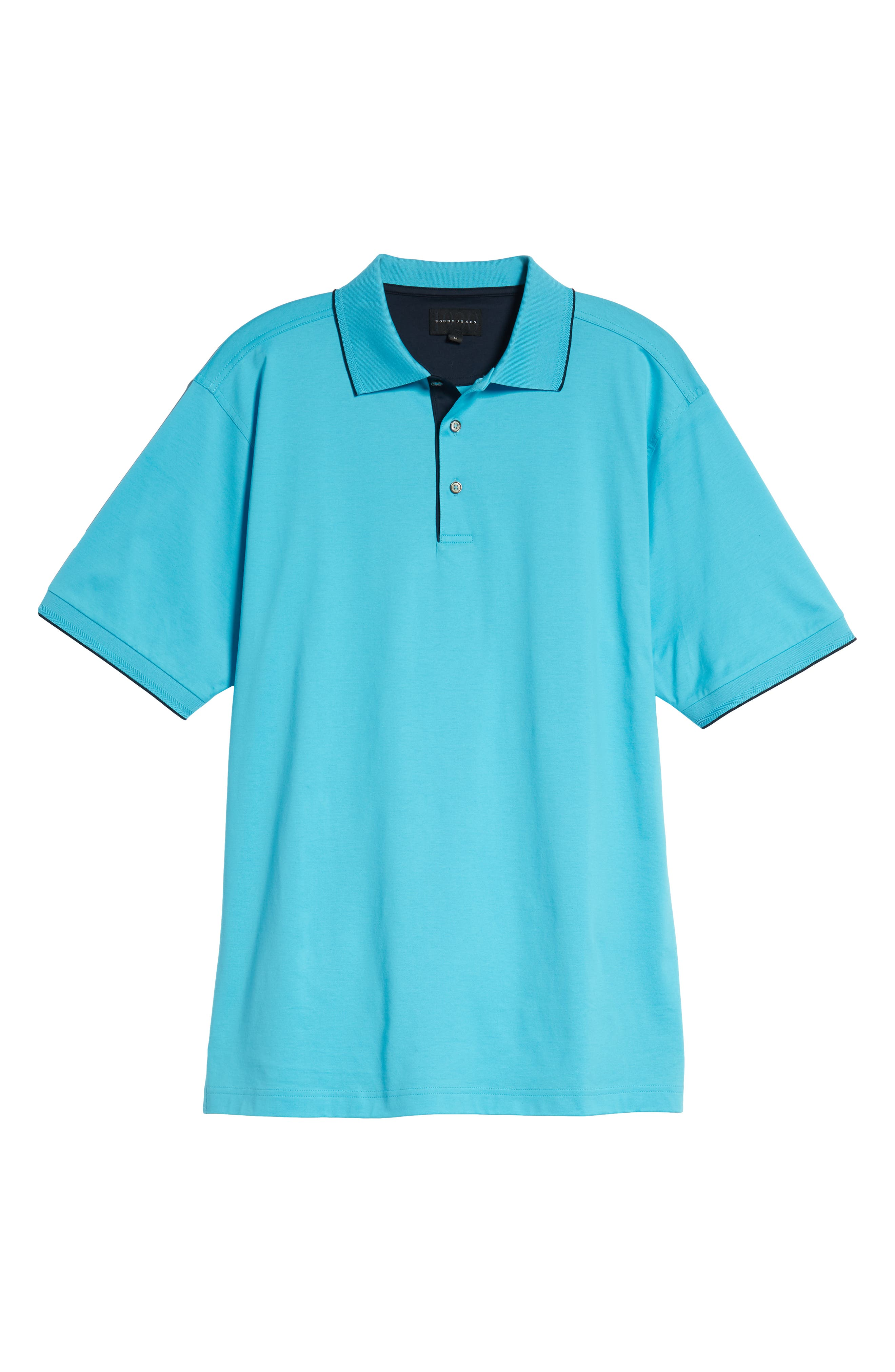 Solid Tipped Polo,                             Alternate thumbnail 6, color,                             BLUE