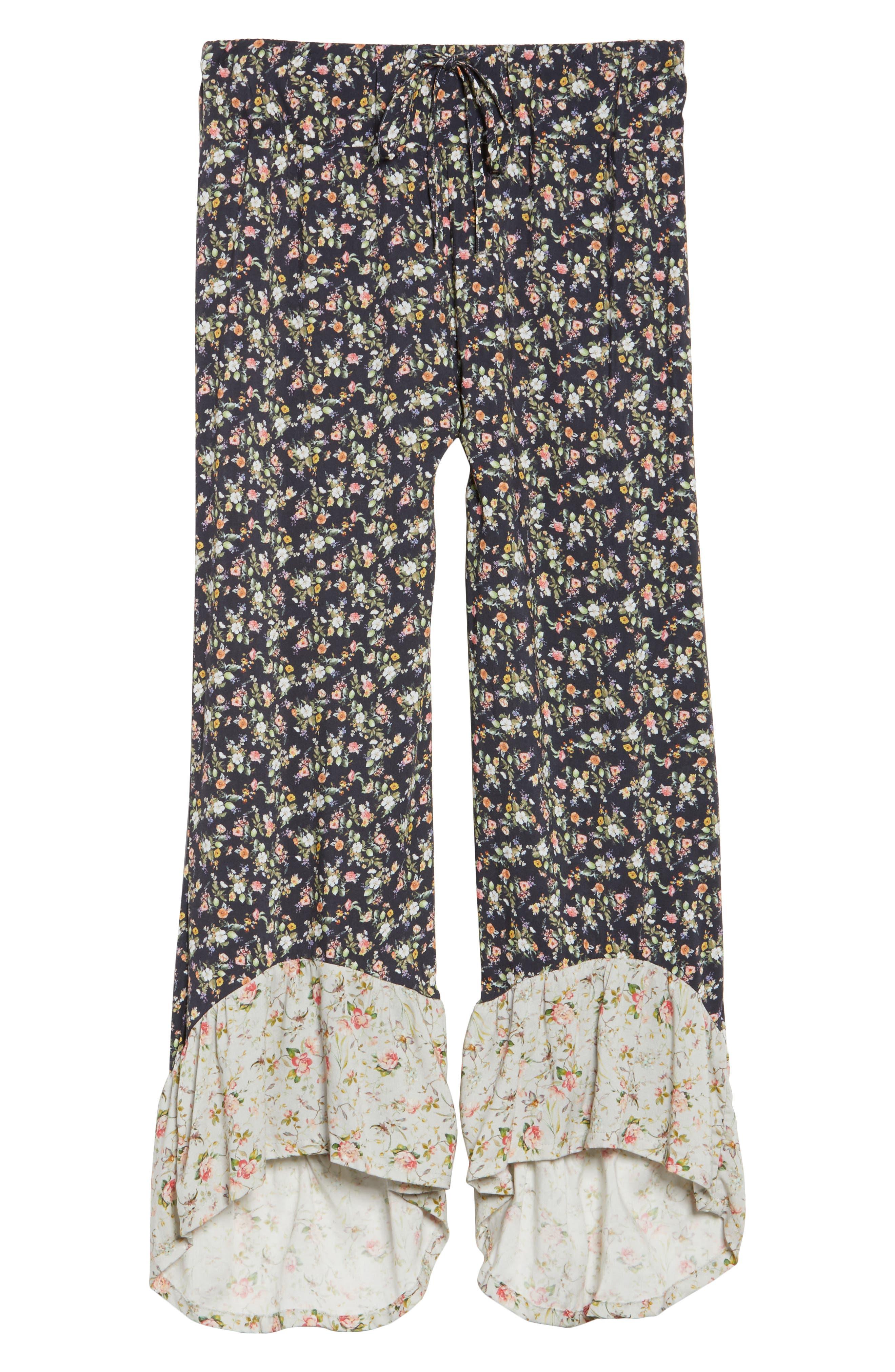 Floral Pajama Pants,                             Alternate thumbnail 6, color,                             400